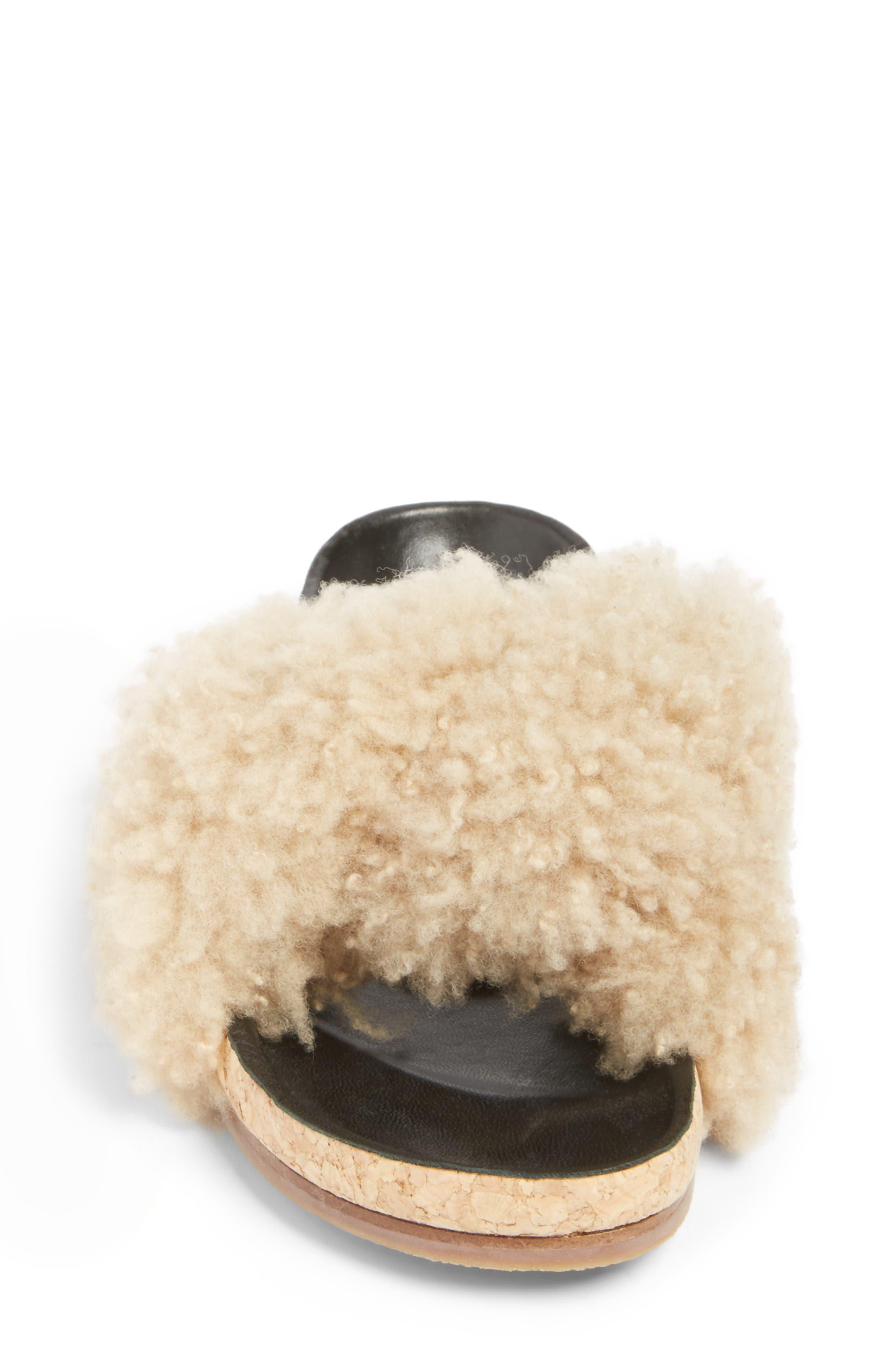 Alternate Image 4  - Chloé Kerenn Genuine Shearling Sandal (Women)