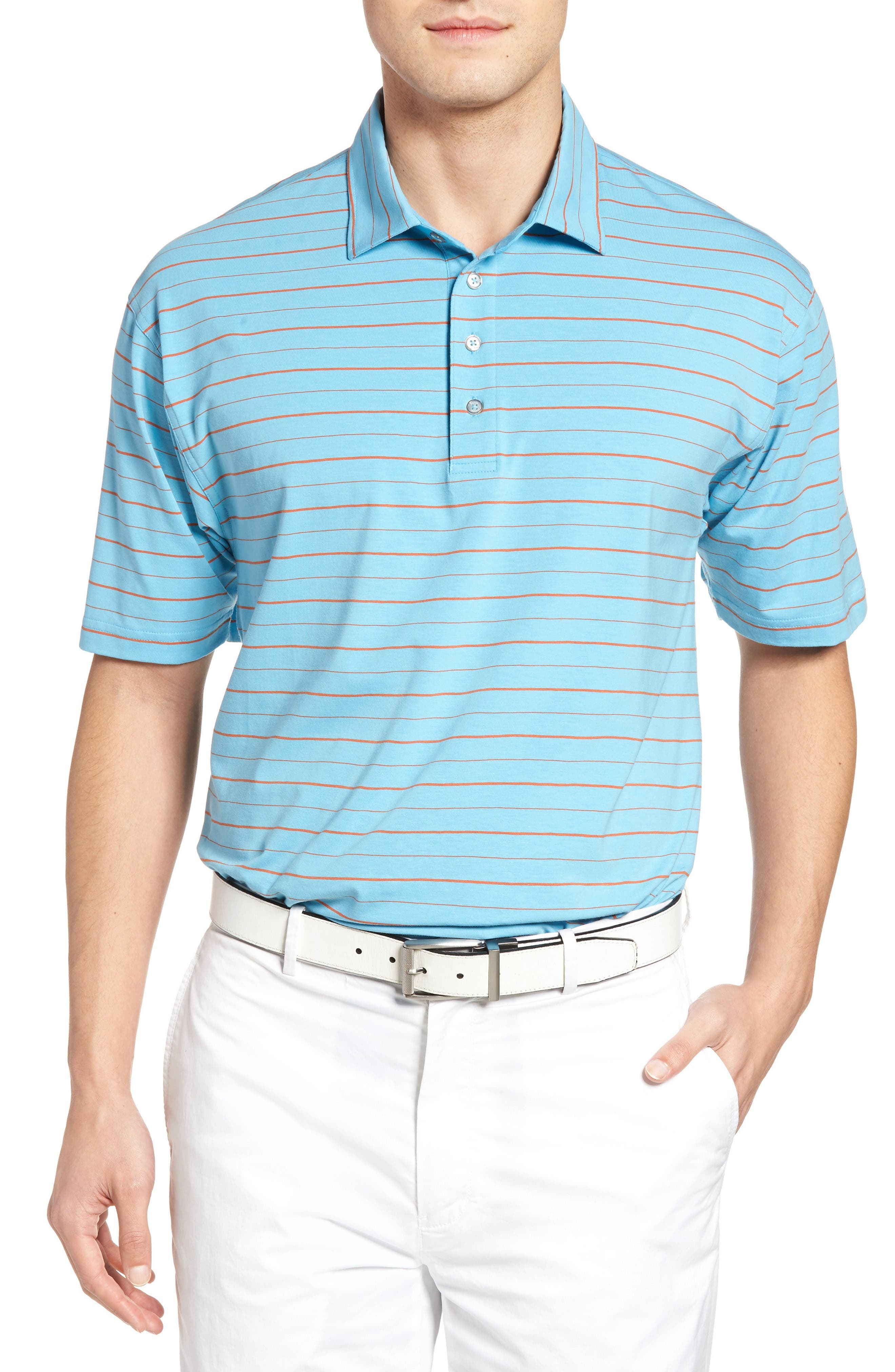 BOBBY JONES Liquid Cotton Stretch Jersey Golf Polo