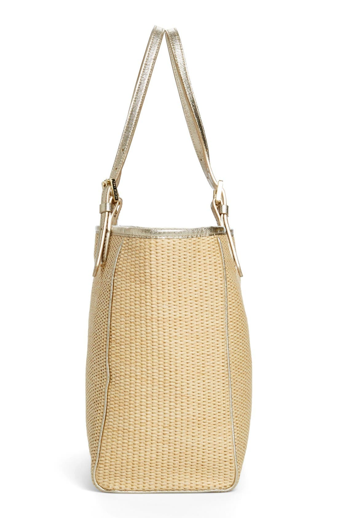 Alternate Image 5  - Tory Burch 'York' Straw Buckle Tote