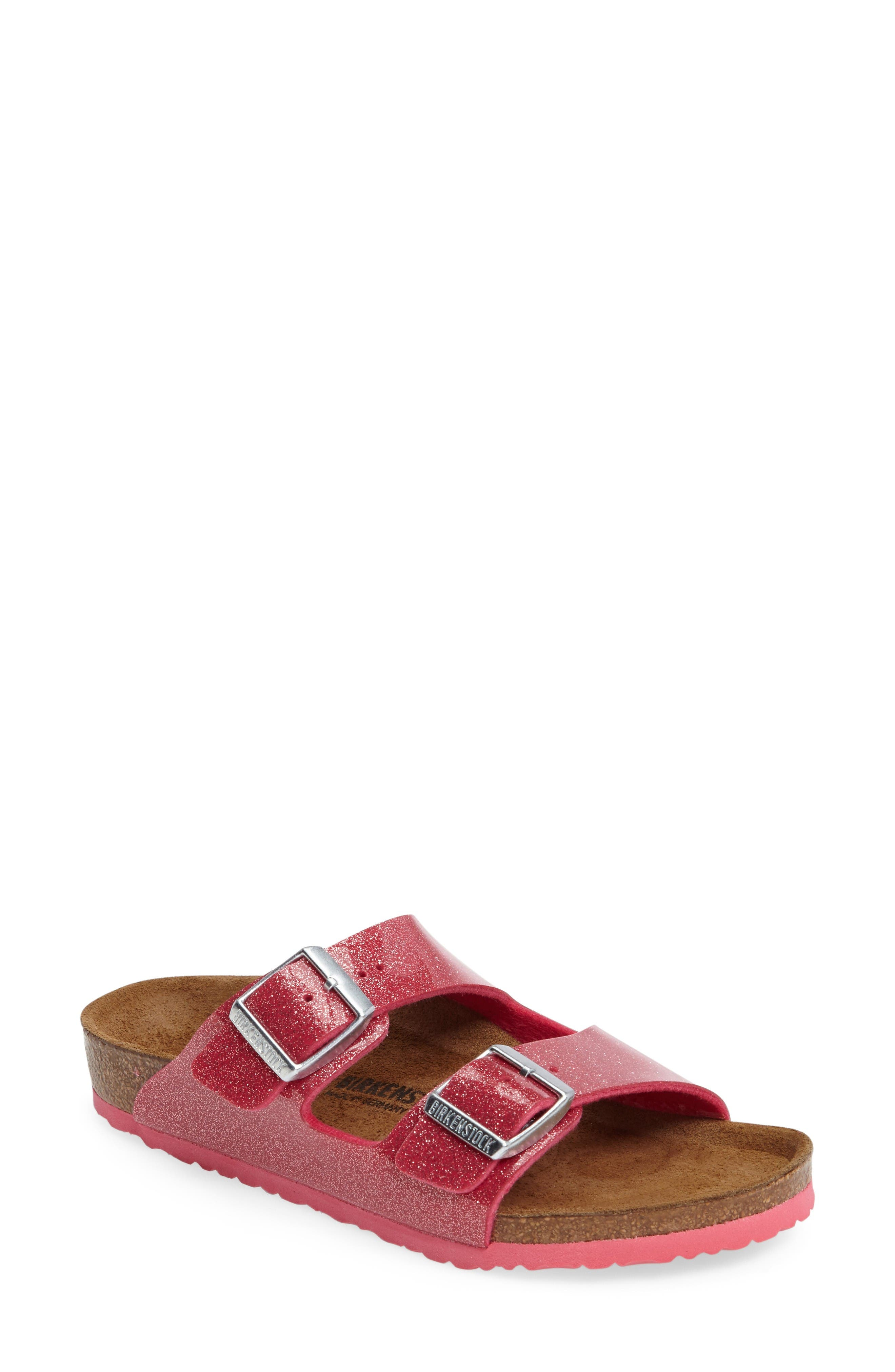 Birkenstock 'Arizona Galaxy Birko-Flor' Slide Sandal (Toddler & Little Kid)