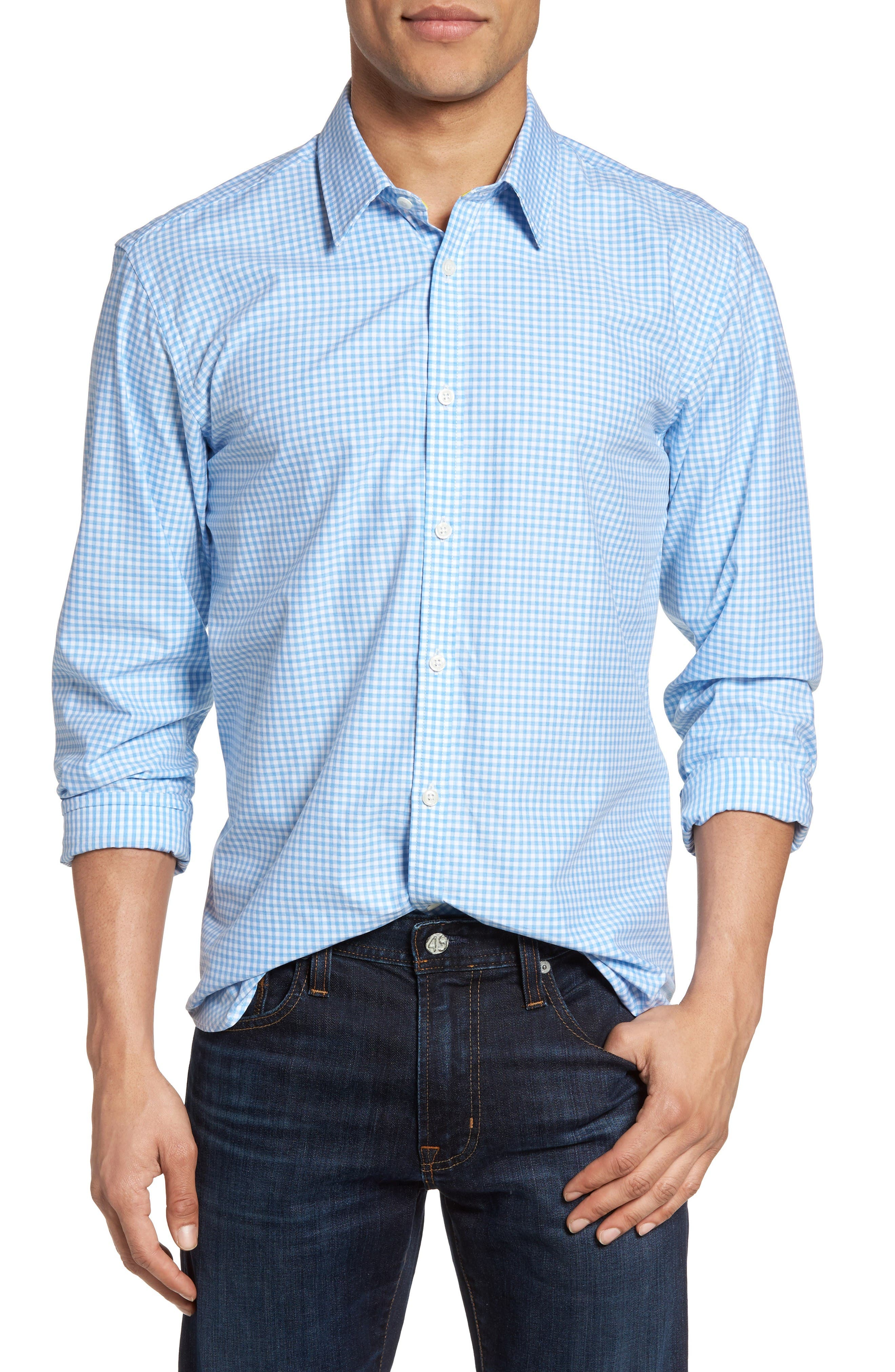Jeremy Argyle Comfort Fit Gingham Sport Shirt
