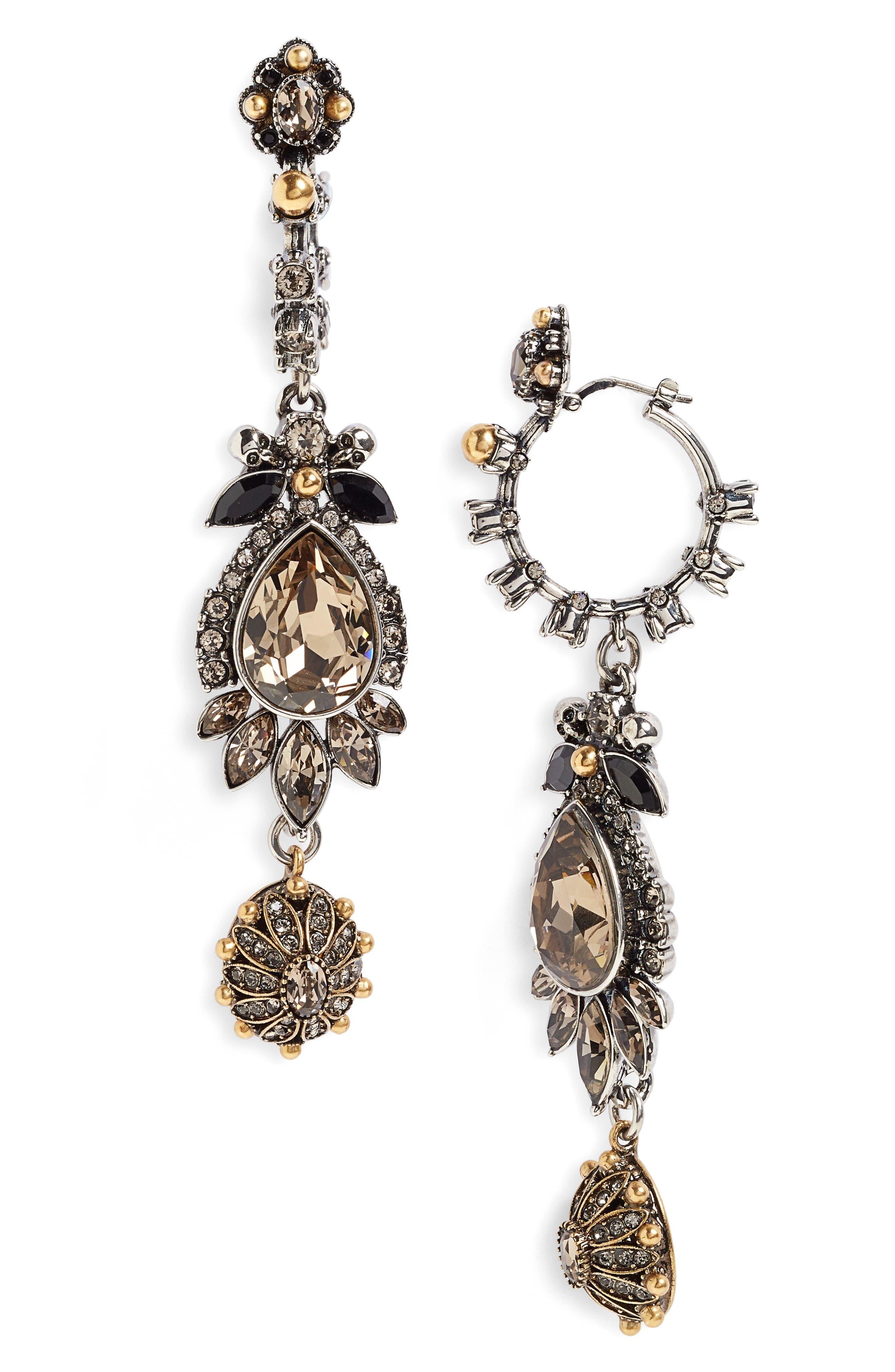 Alexander McQueen Charm Drop Earrings