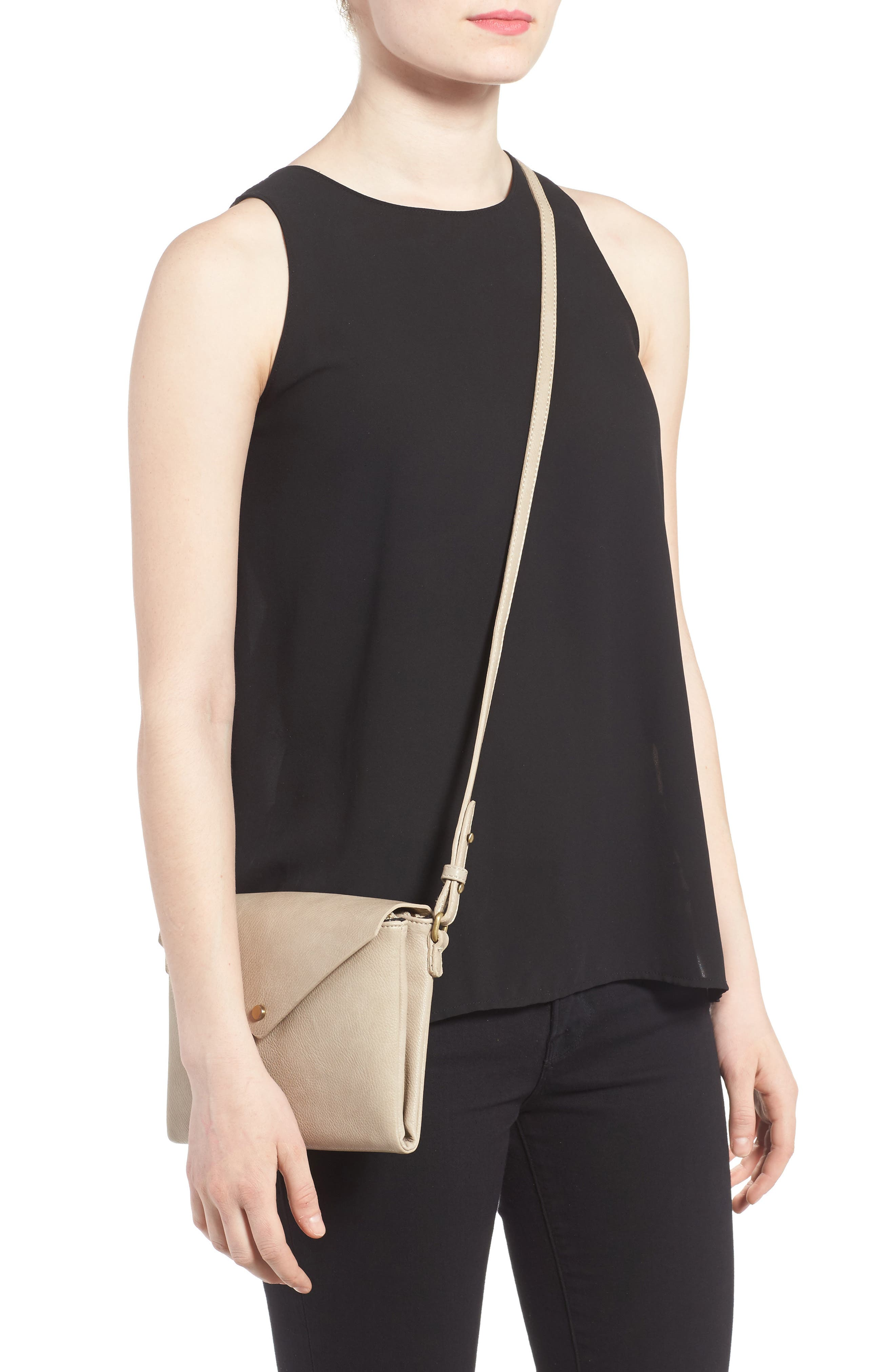 Alternate Image 2  - Street Level Faux Leather Envelope Crossbody Bag