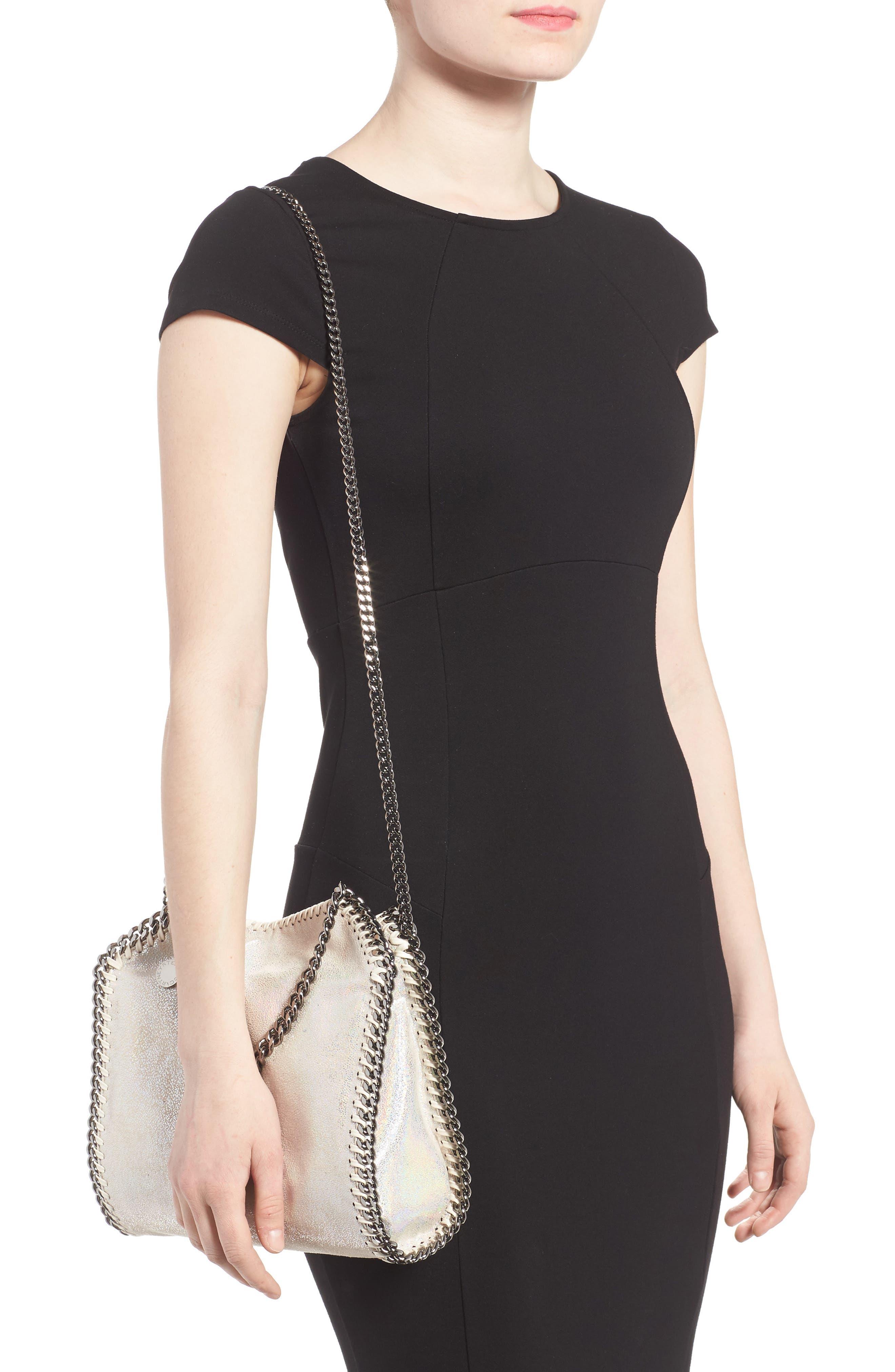 Alternate Image 2  - Stella McCartney Mini Falabella - Holograph Faux Leather Crossbody Bag