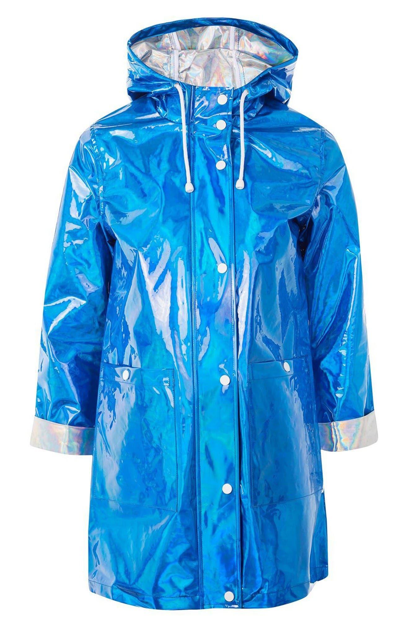 Alternate Image 4  - Topshop Iridescent Rain Jacket