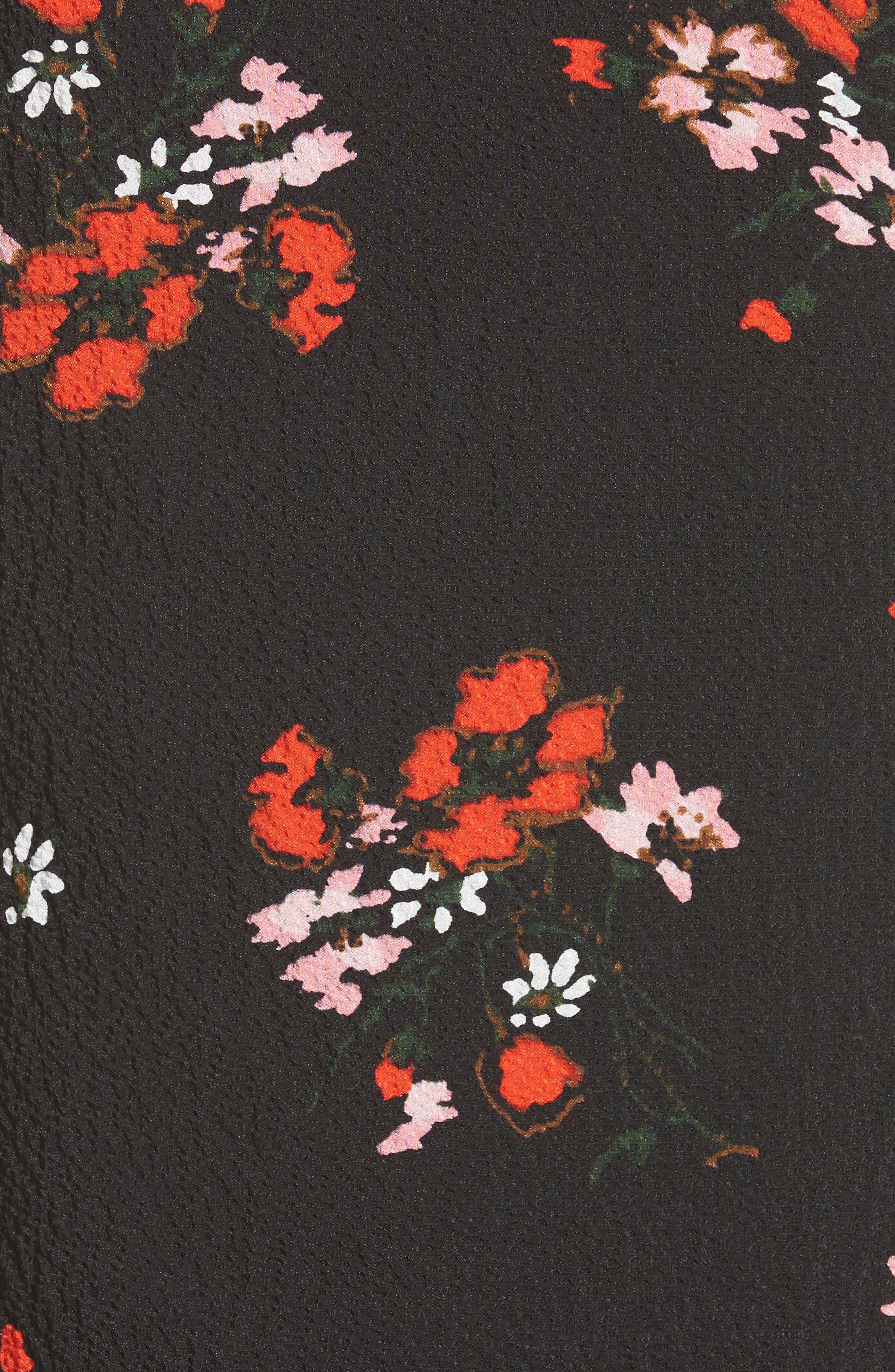 Alternate Image 5  - Rebecca Taylor Marguerite Print Stretch Silk Top