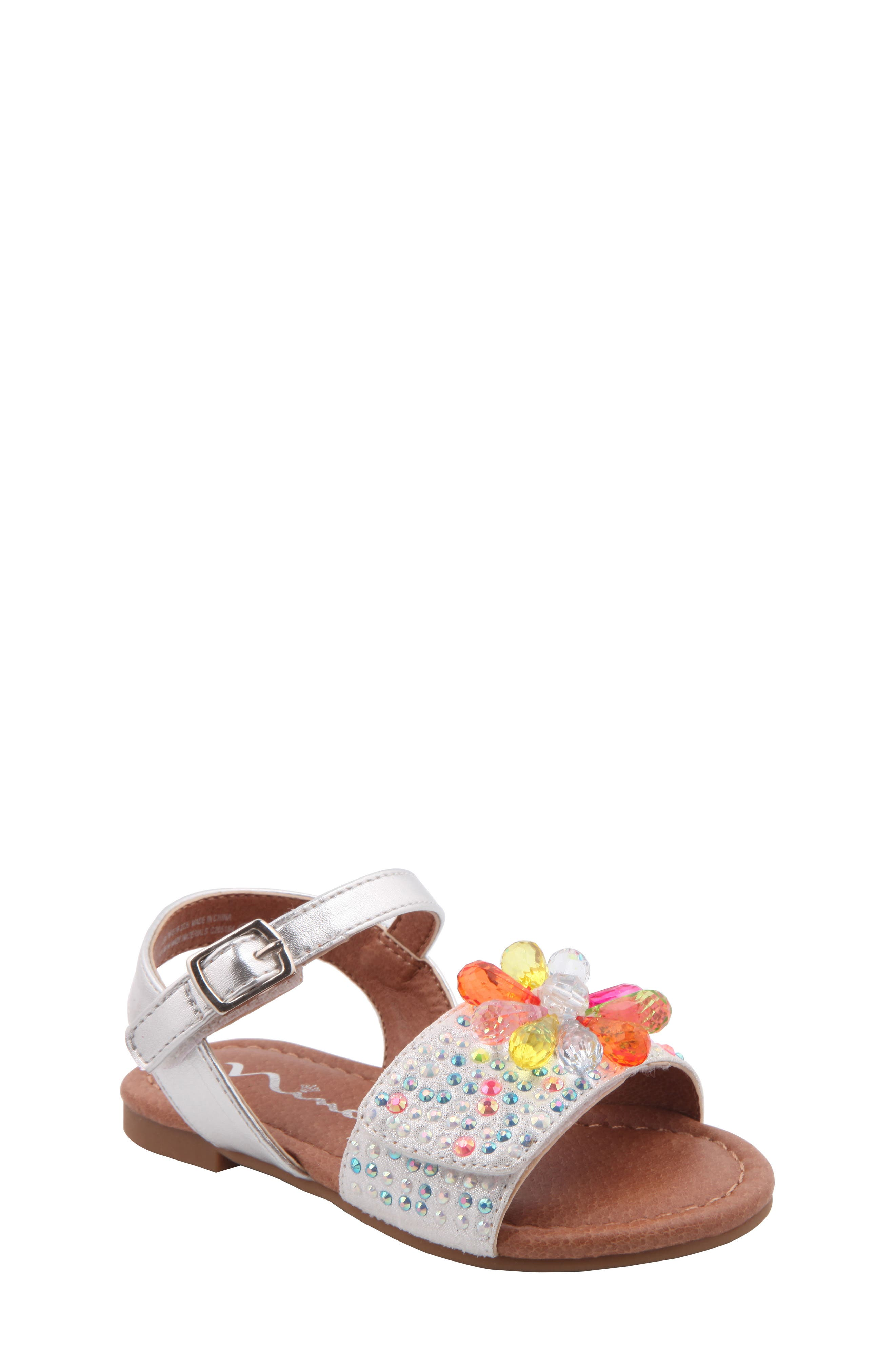 Nina Lindy Crystal Flower Sandal (Walker & Toddler)