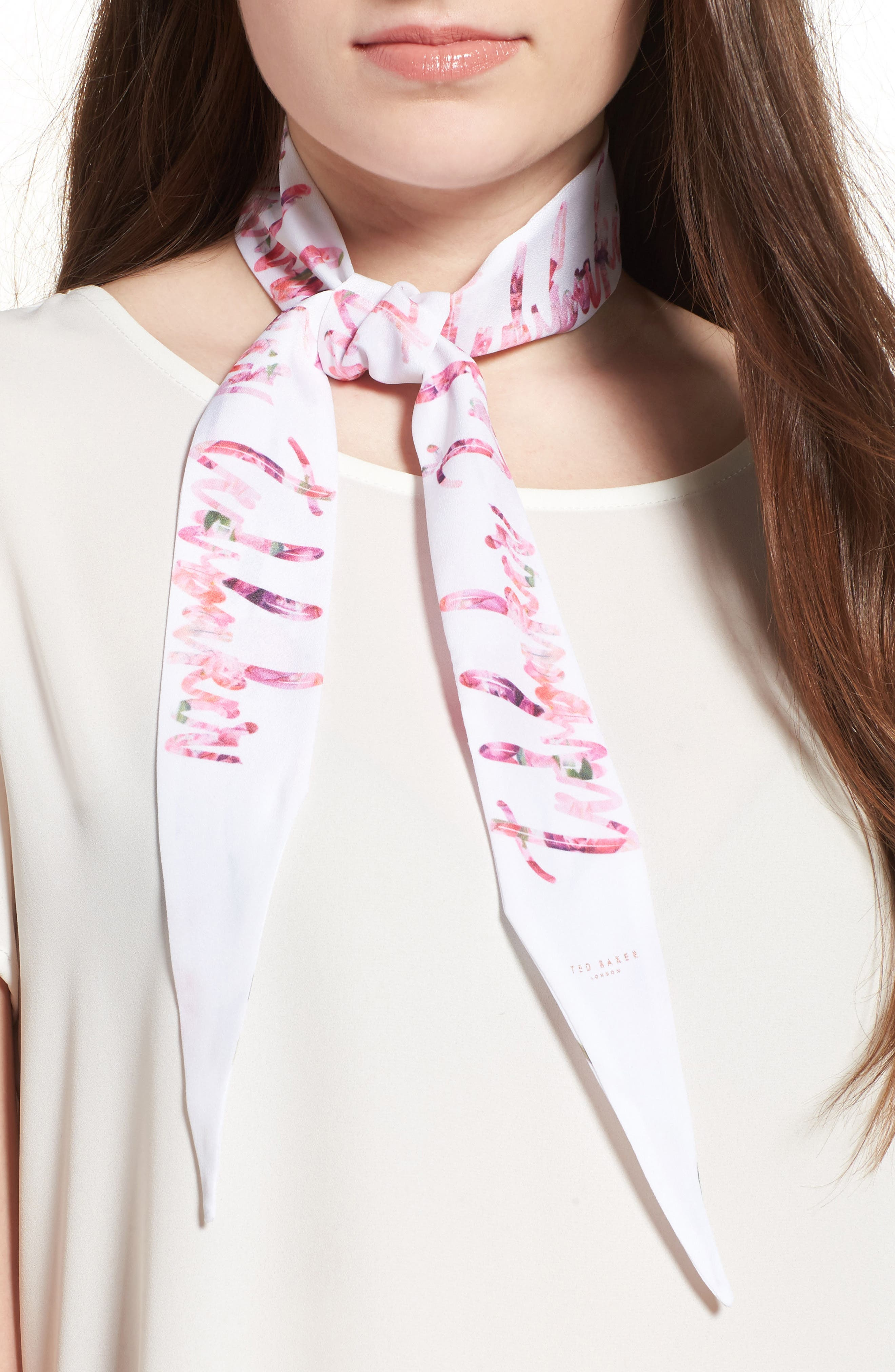 Ted Baker London Sketchbook Skinny Scarf
