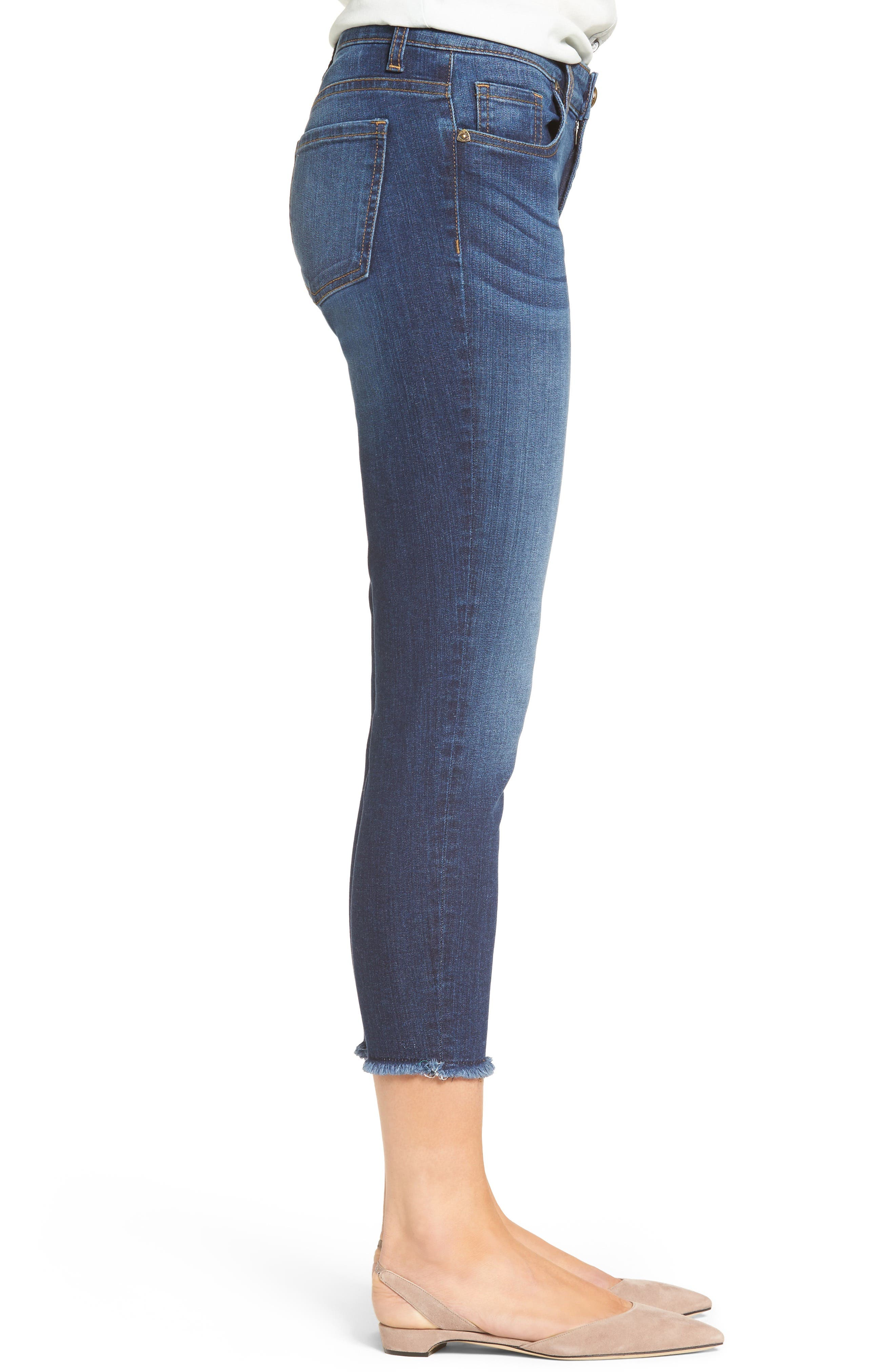 Alternate Image 3  - KUT from the Kloth Donna Ripped Crop Jeans (Peaceable) (Regular & Petite)