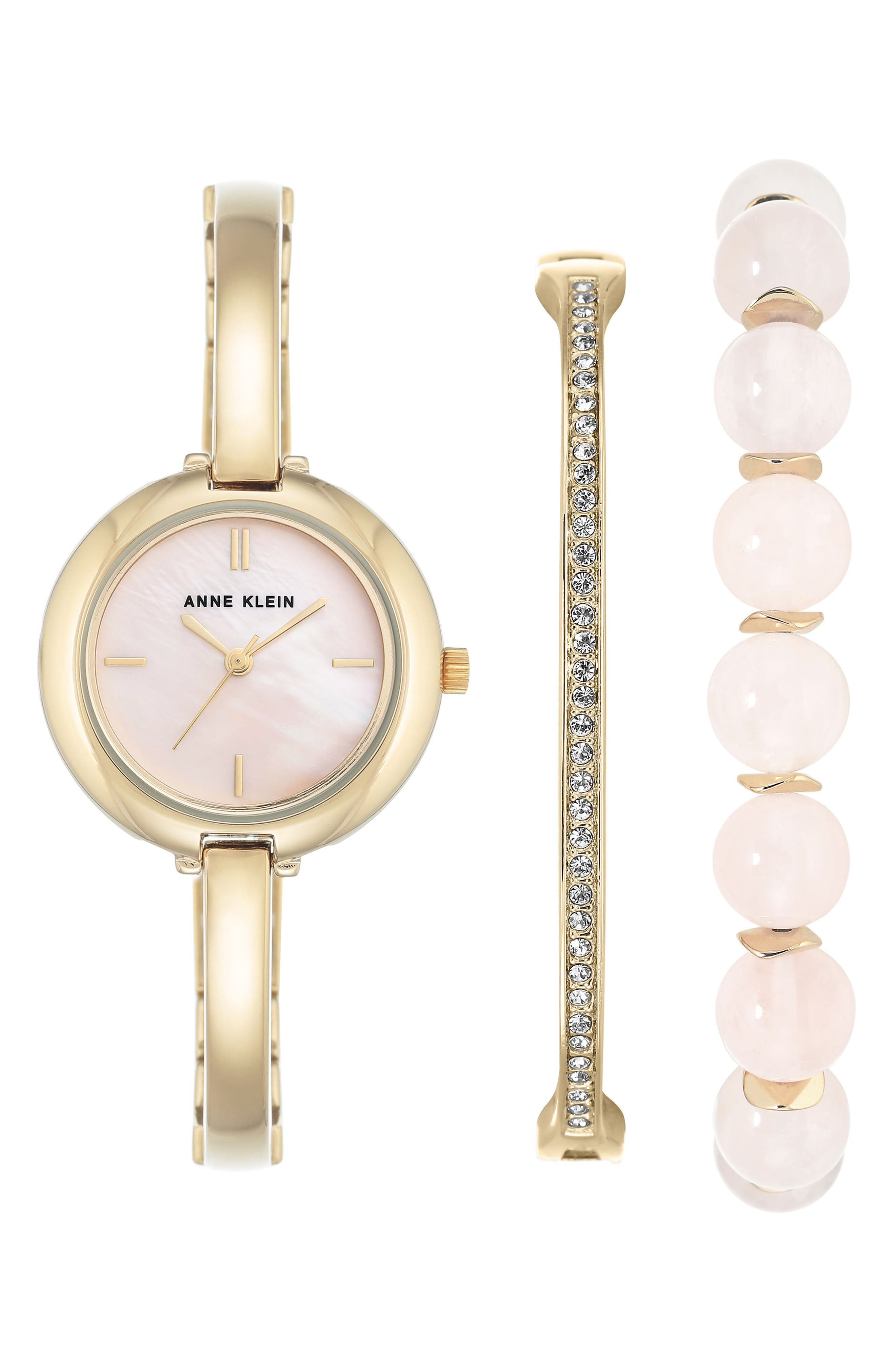 Anne Klein Bracelet Watch & Bangle Set