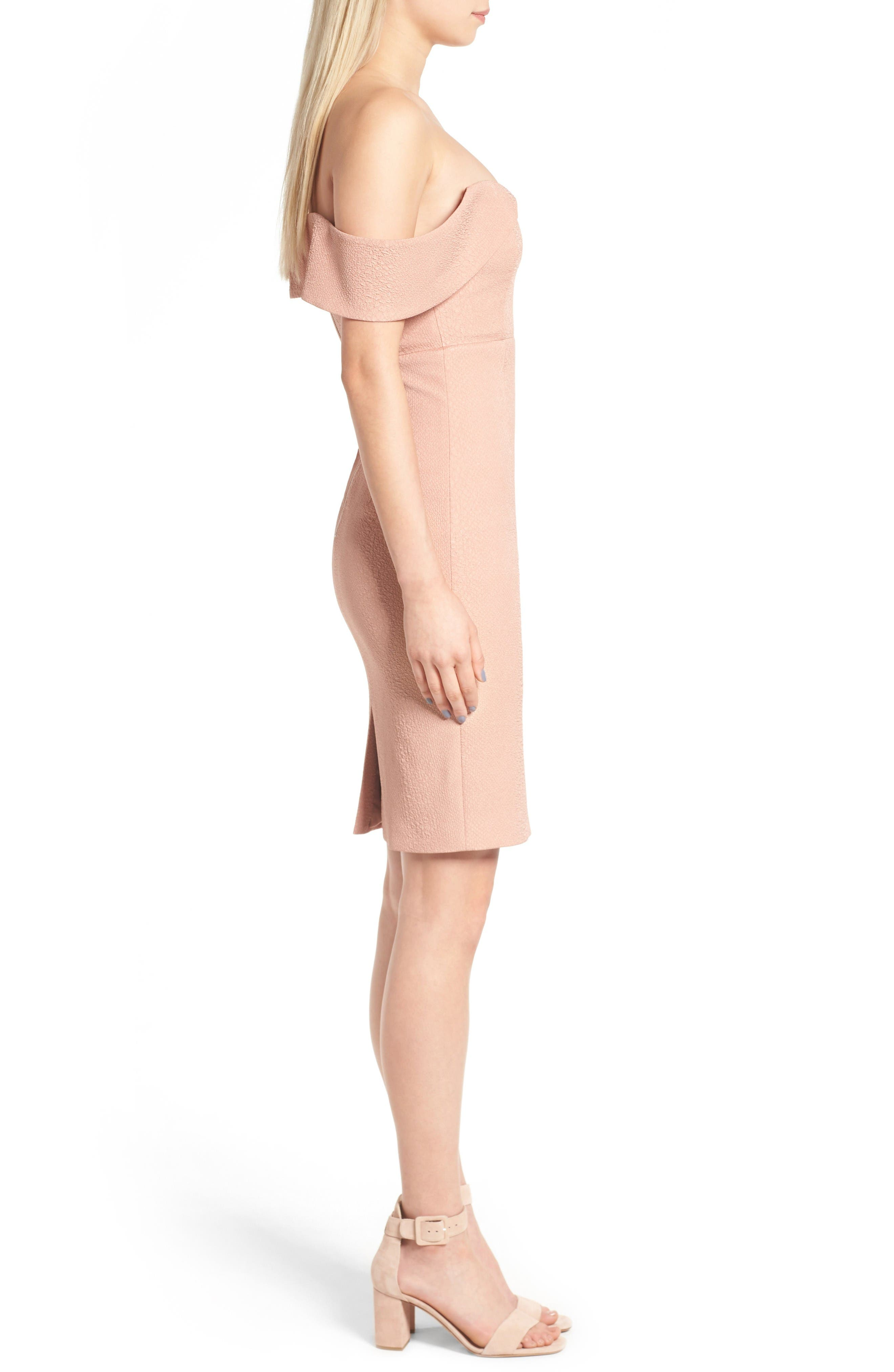 Alternate Image 4  - Bardot Eva Off the Shoulder Body-Con Dress