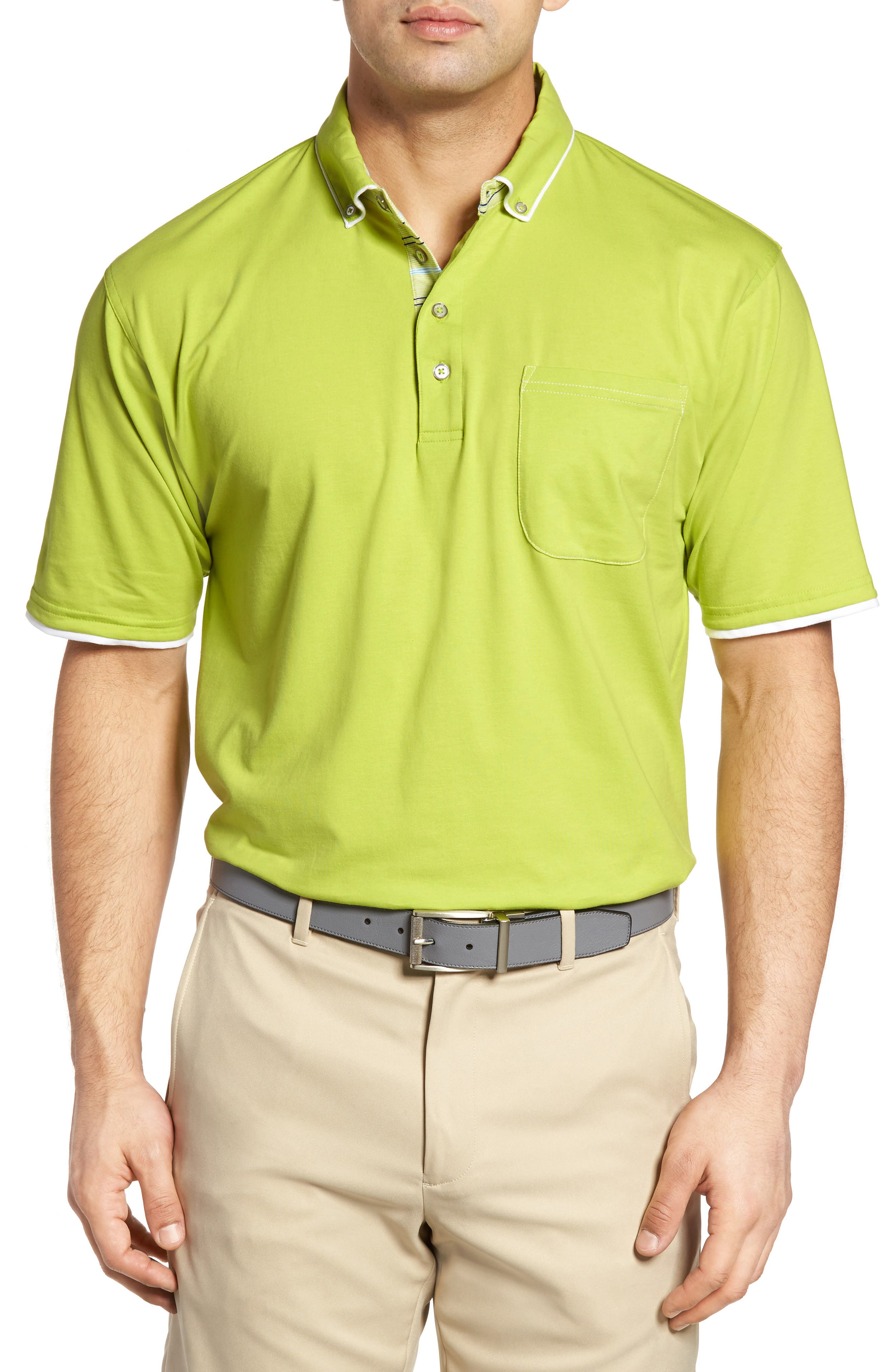 Bobby Jones Liquid Cotton Stretch Jersey Golf Polo