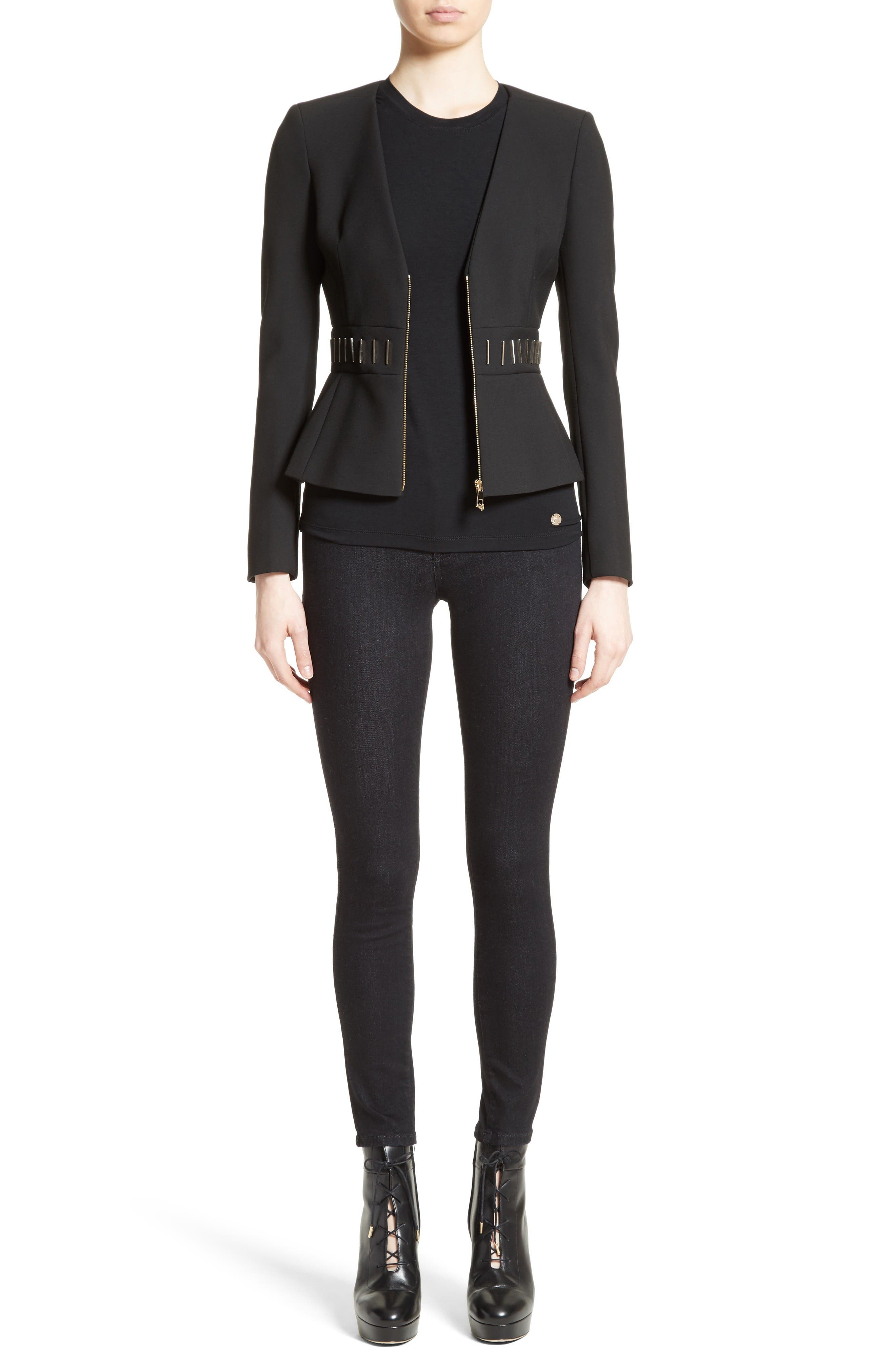 Alternate Image 7  - Versace Collection Bar Detail Cady Jacket