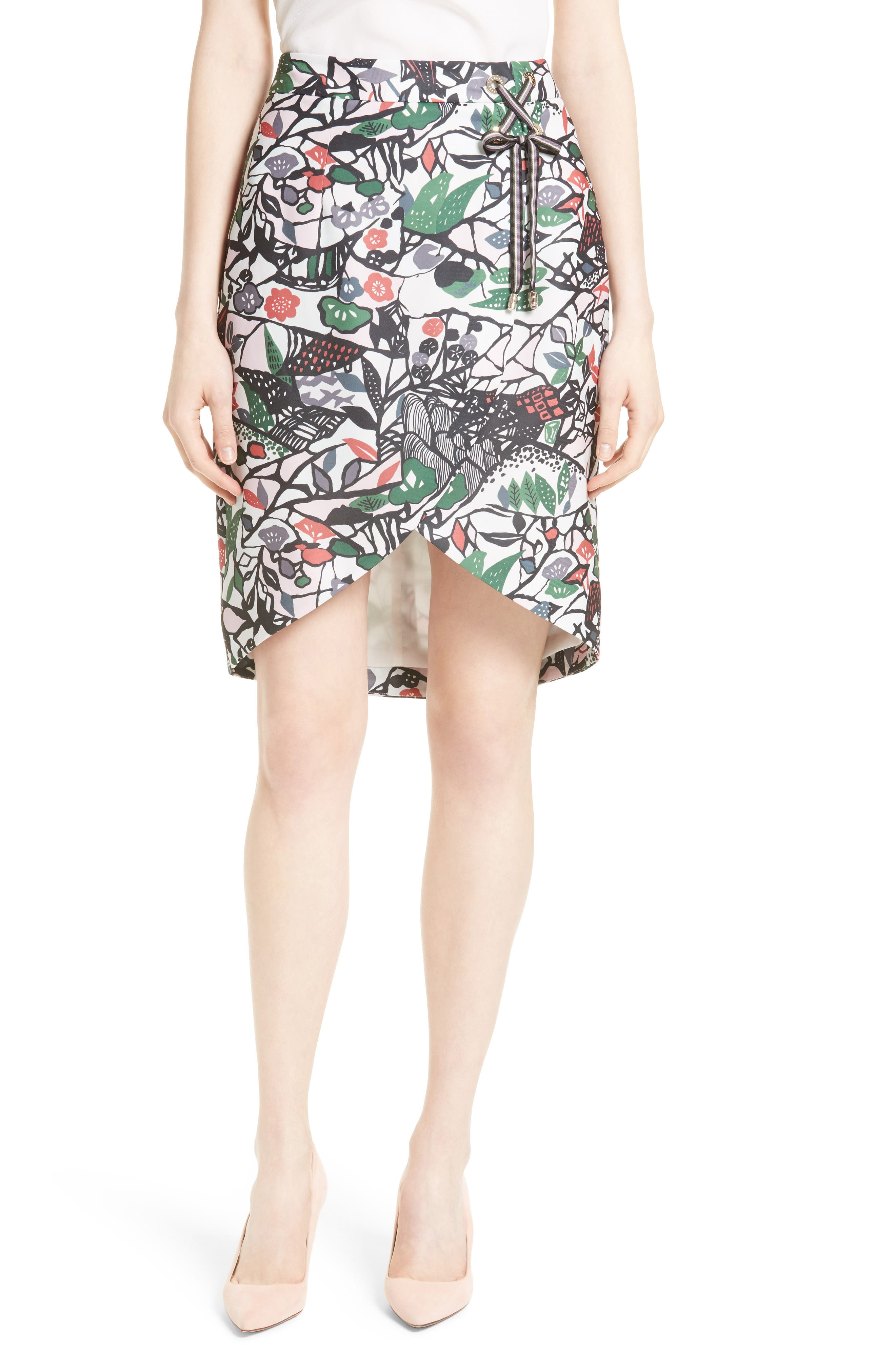 Ted Baker London Lexan Crossover Faux Wrap Skirt
