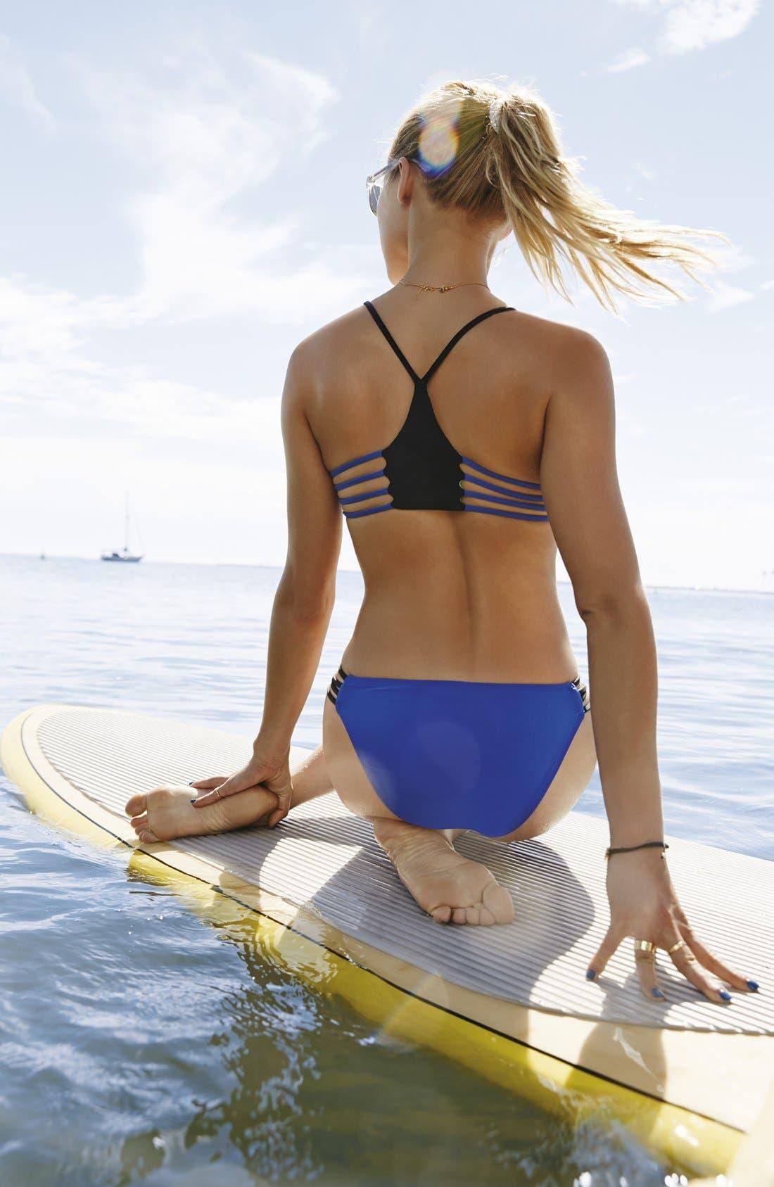 Alternate Image 7  - L Space 'Wild One' Reversible Strappy Racerback Bikini Top