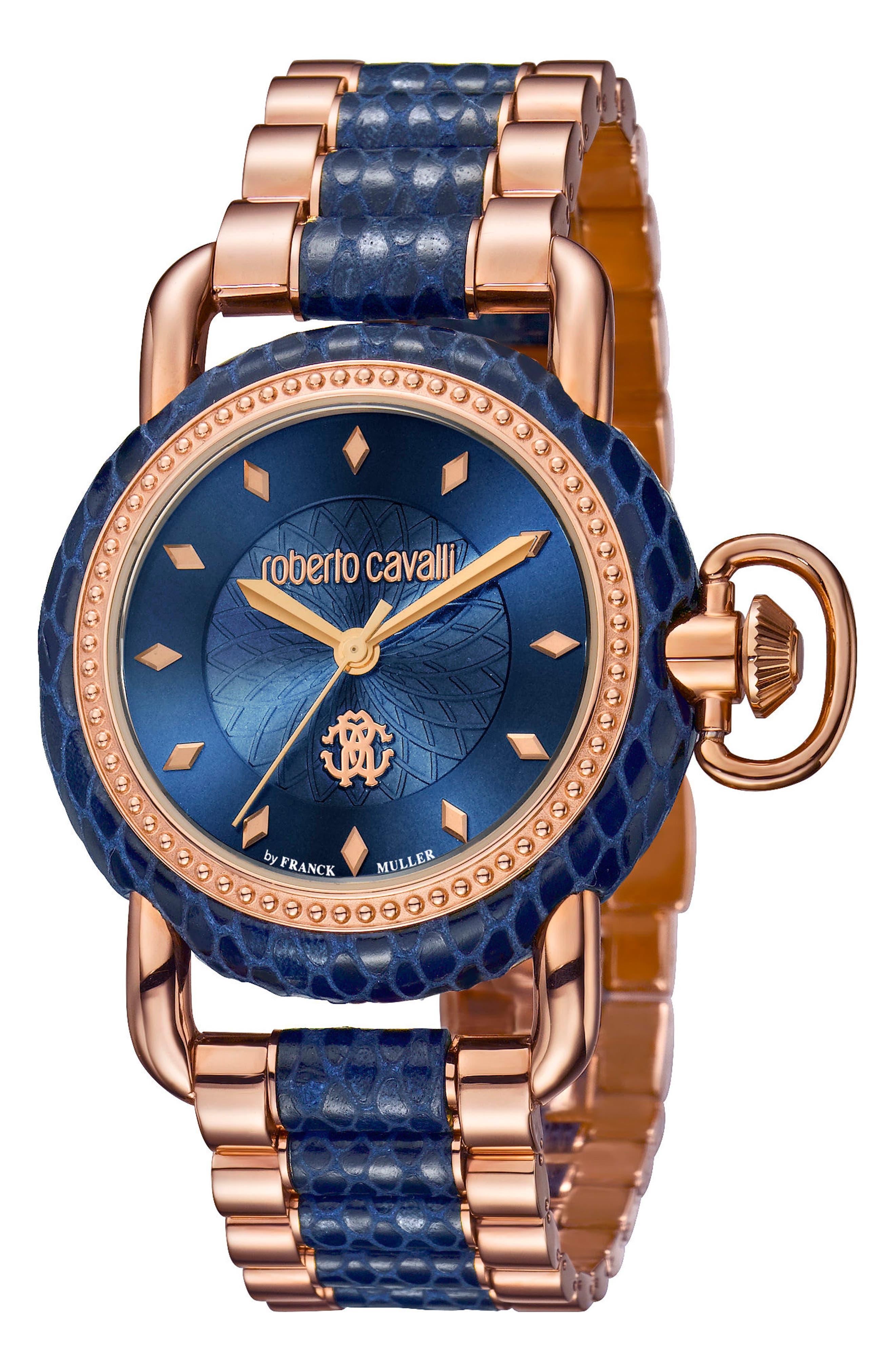 Roberto Cavalli by Franck Muller Snake Bracelet Watch, 36mm