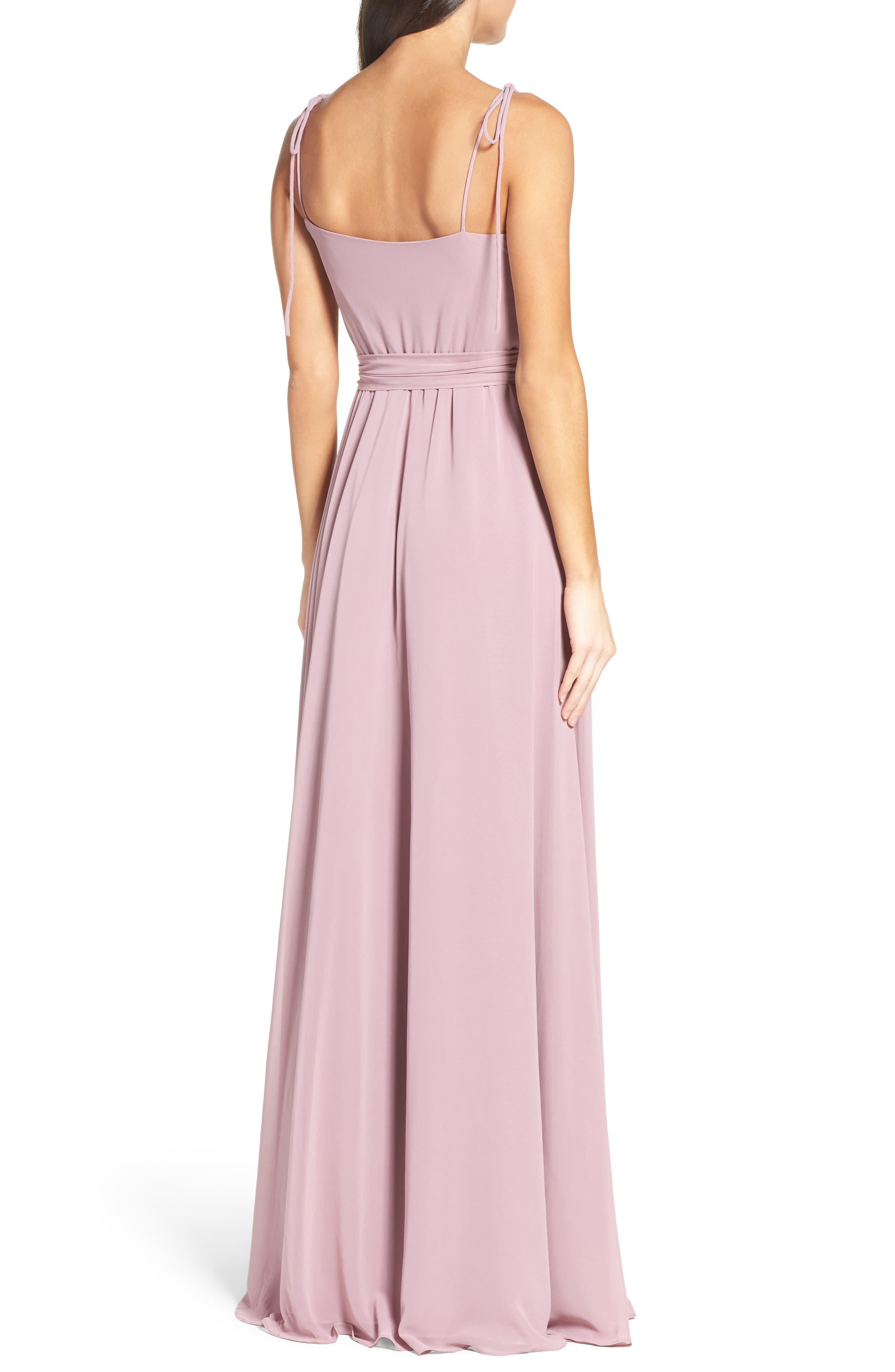 Alternate Image 2  - Ceremony by Joanna August Chiffon Gown