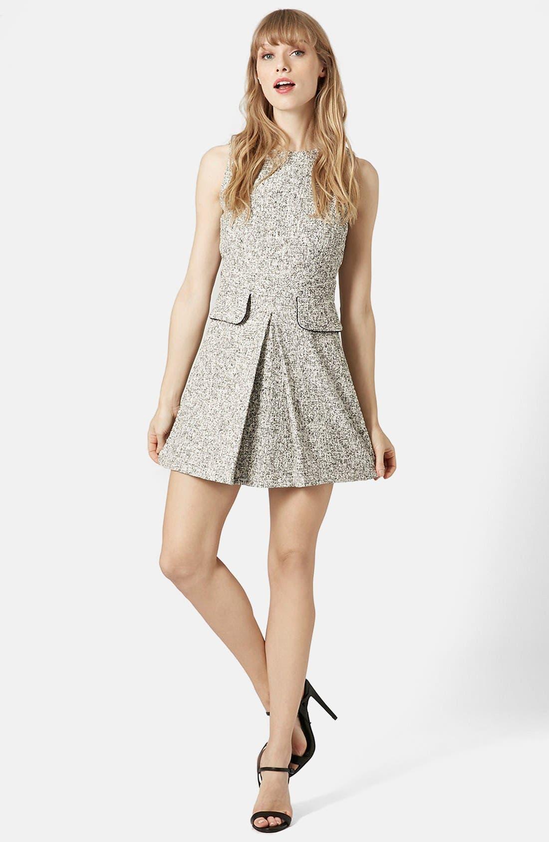 Main Image - Topshop Bouclé Shift Dress