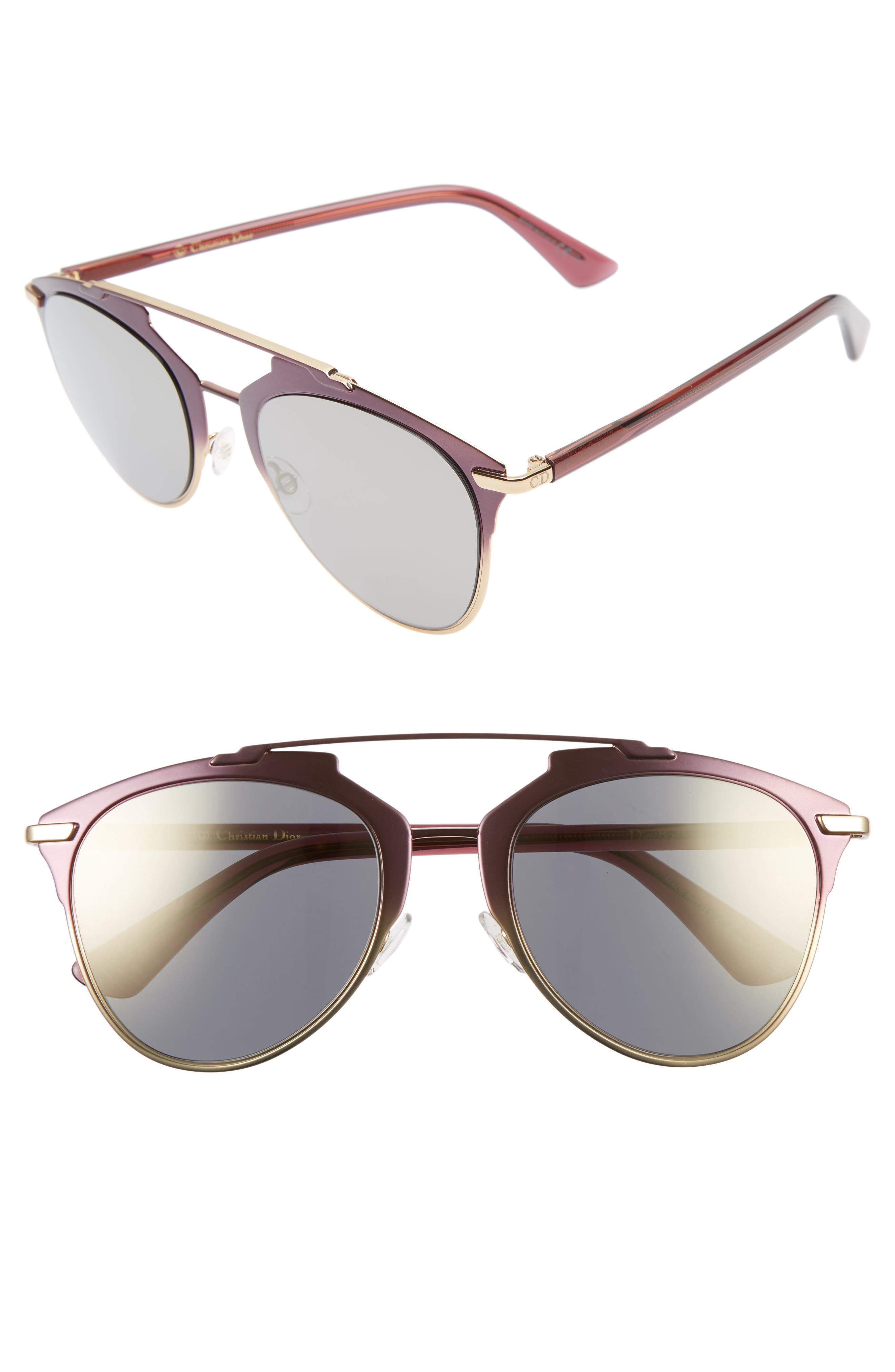 Alternate Image 1 Selected - Dior Reflected 52mm Brow Bar Sunglasses