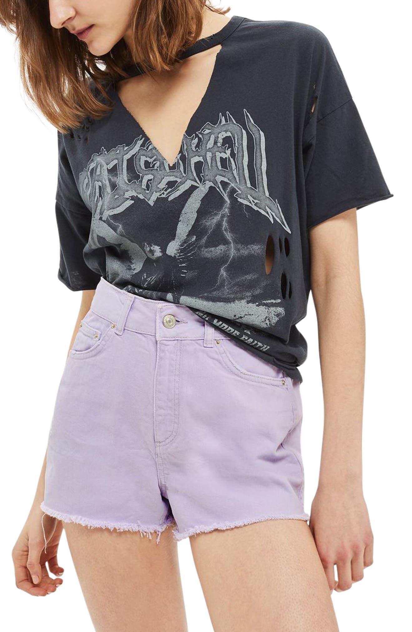Main Image - Topshop Cutoff Denim Shorts