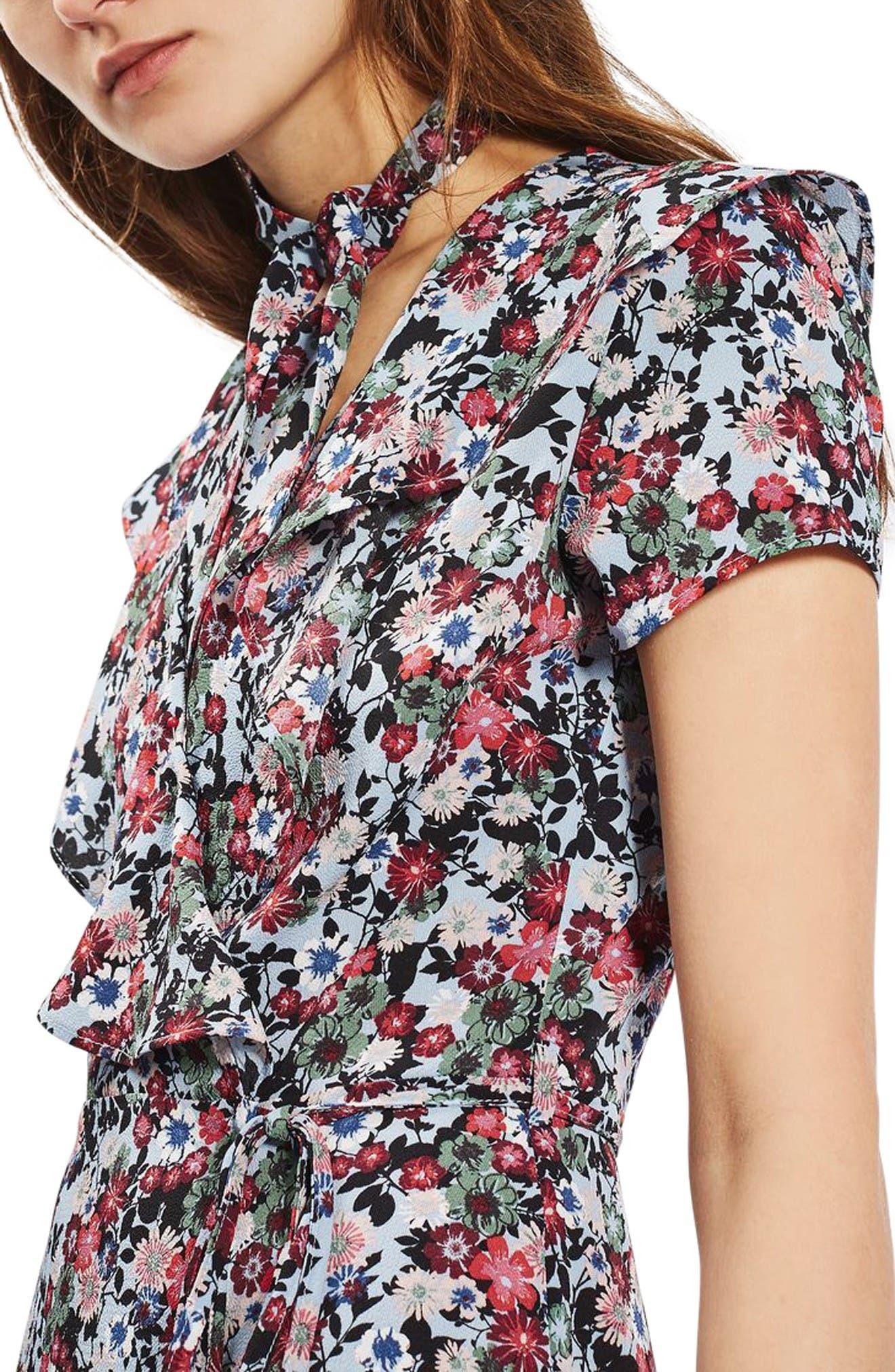 Alternate Image 5  - Topshop Sky Floral Wrap Dress
