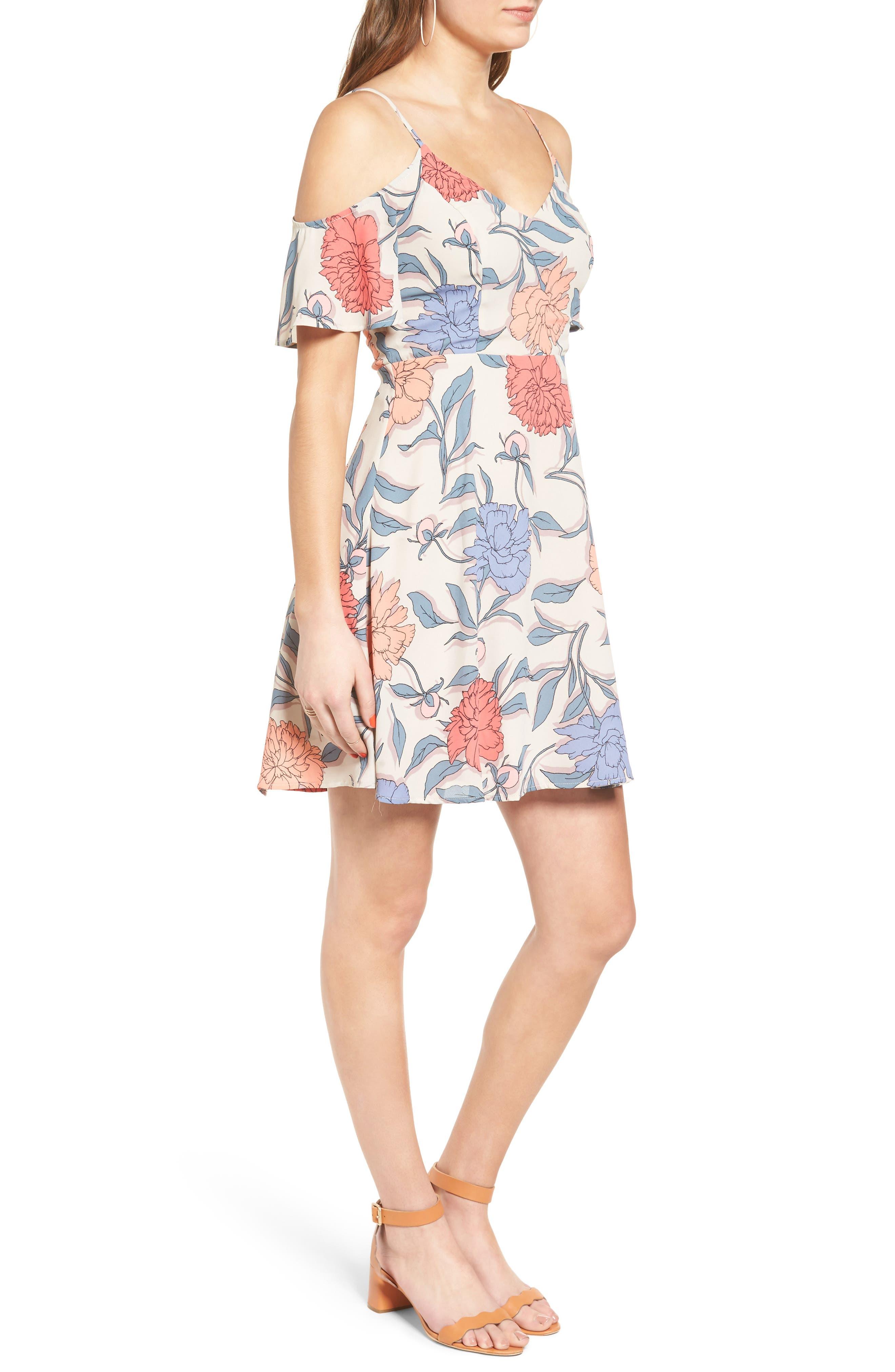 Alternate Image 3  - Lush Off the Shoulder Fit & Flare Dress