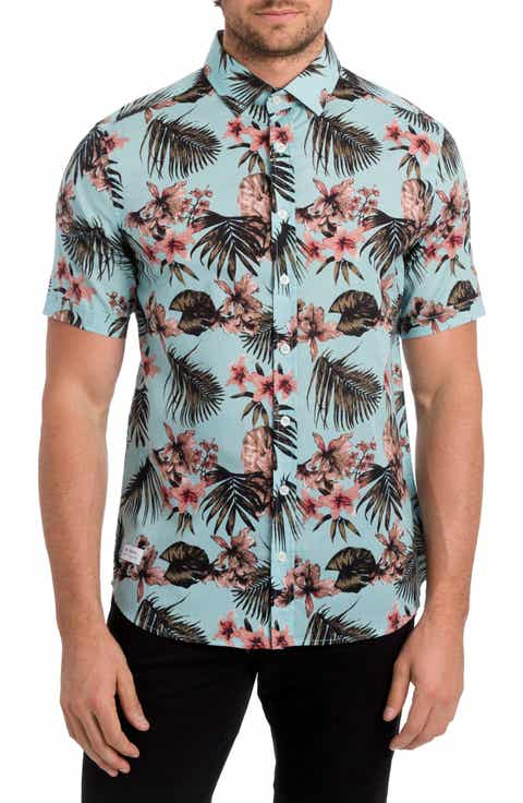 7 Diamonds Palapa Funk Print Woven Shirt
