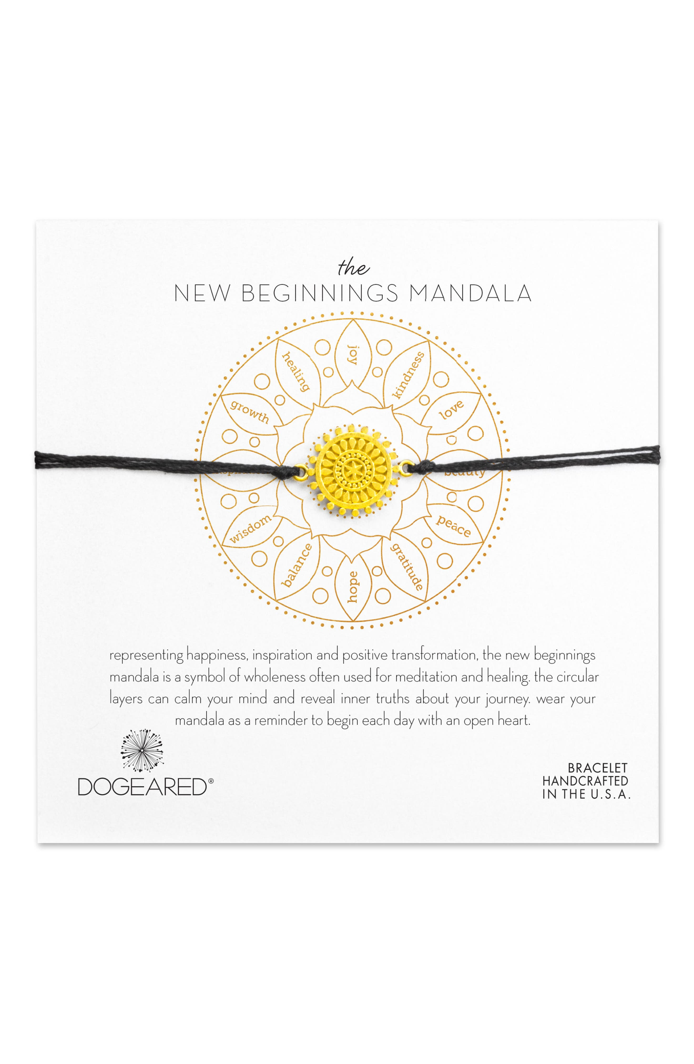 Dogeared The New Beginnings Mandala Bracelet