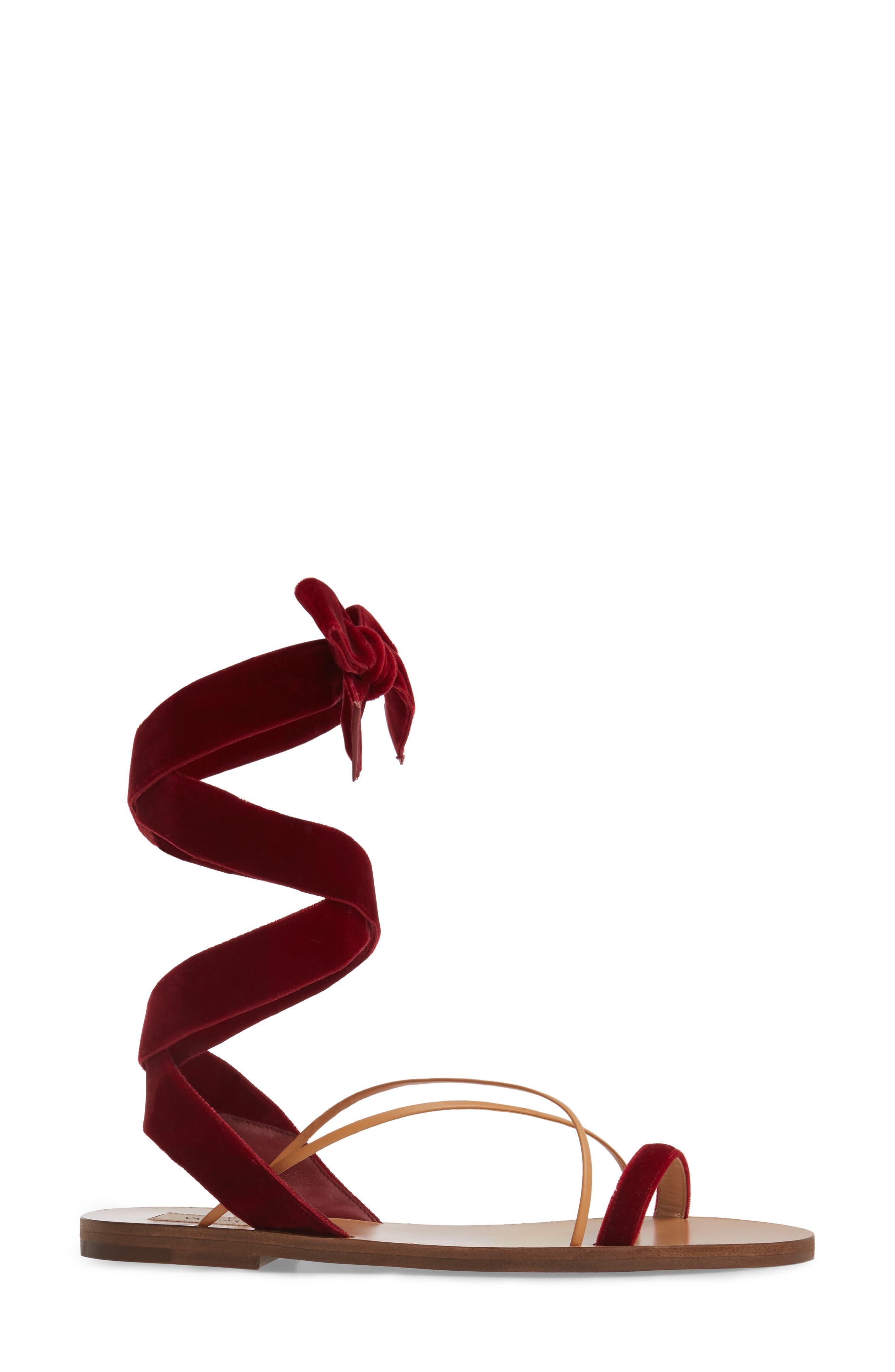 Alternate Image 3  - Valentino Lace-up Sandal (Women)