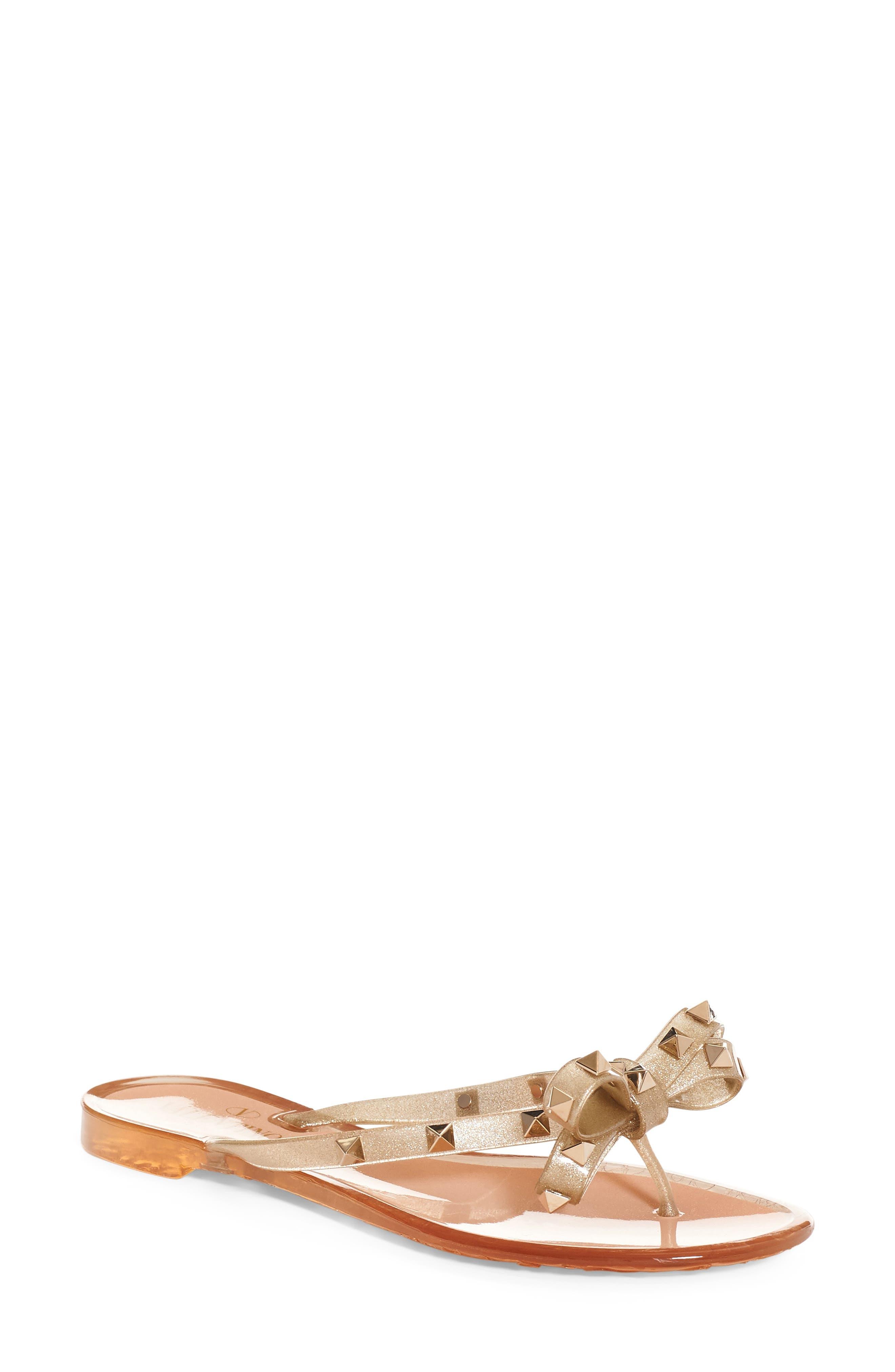 Main Image - Valentino 'Rockstud' Flip Flop (Women)