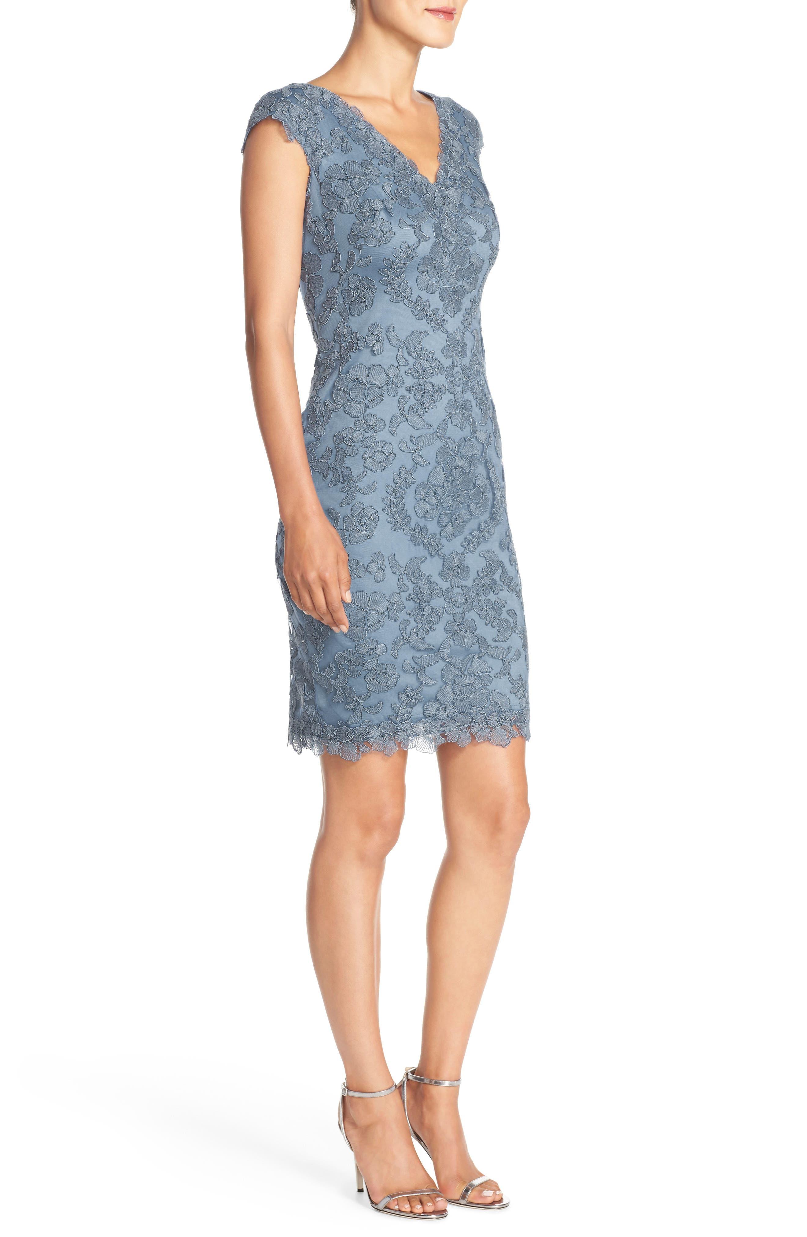 Alternate Image 3  - Tadashi Shoji Embroidered Tulle Sheath Dress