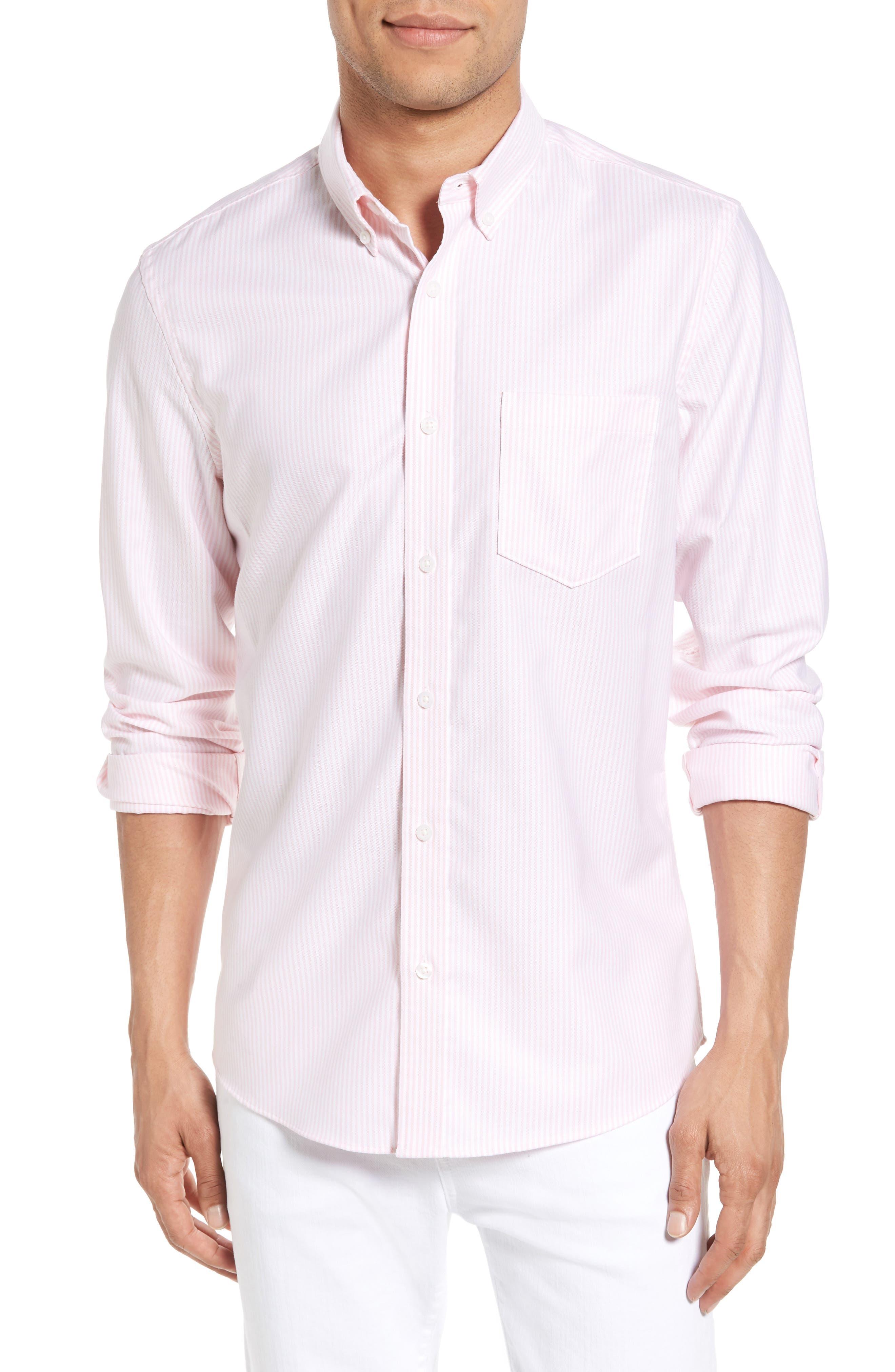 Nordstrom Men's Shop Trim Fit Bengal Stripe Sport Shirt