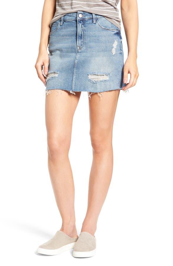 Mavi Jeans Carmen Destroyed Denim Skirt | Nordstrom