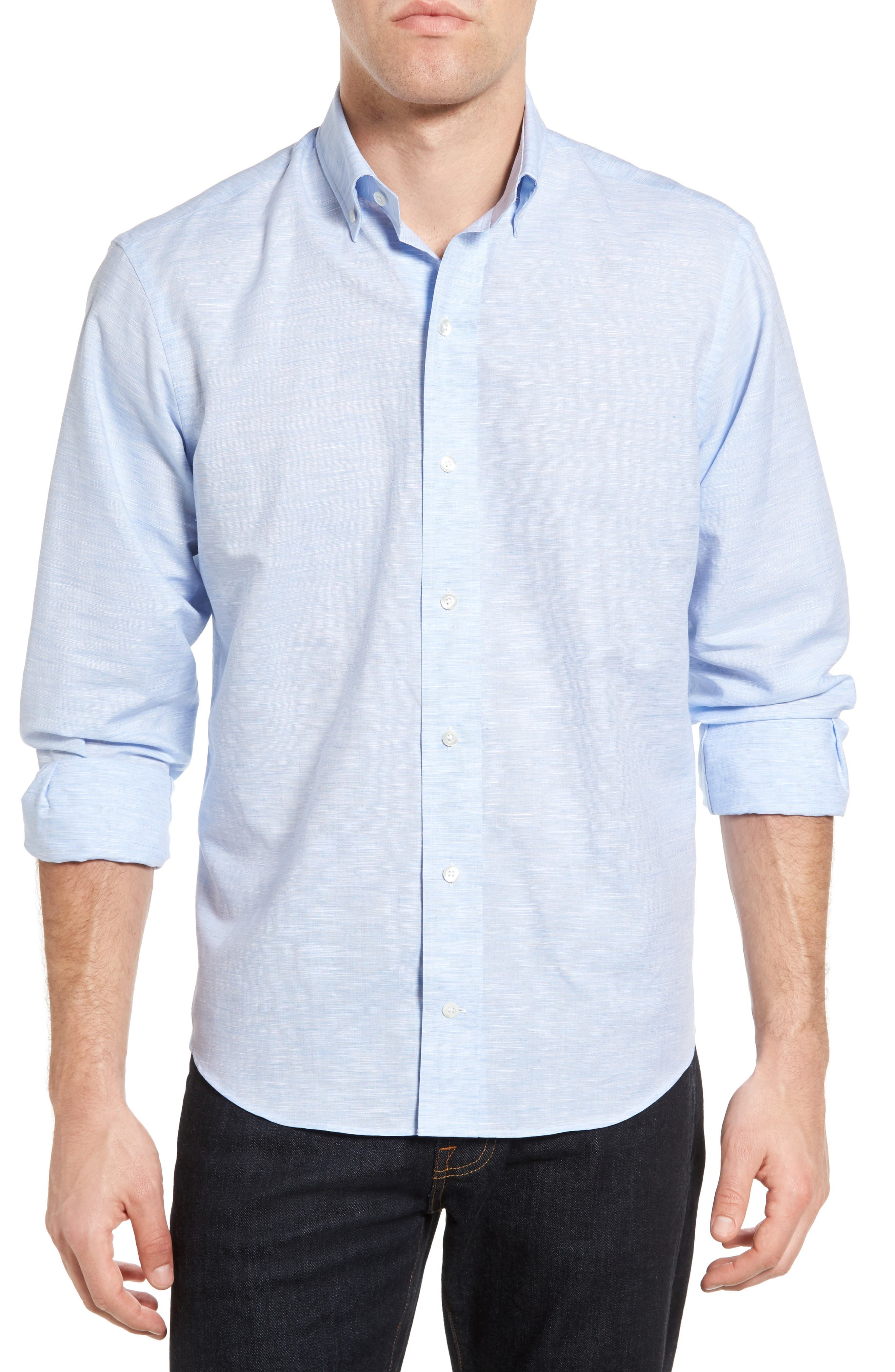 Ledbury The Boughton Classic Fit Linen Blend Sport Shirt