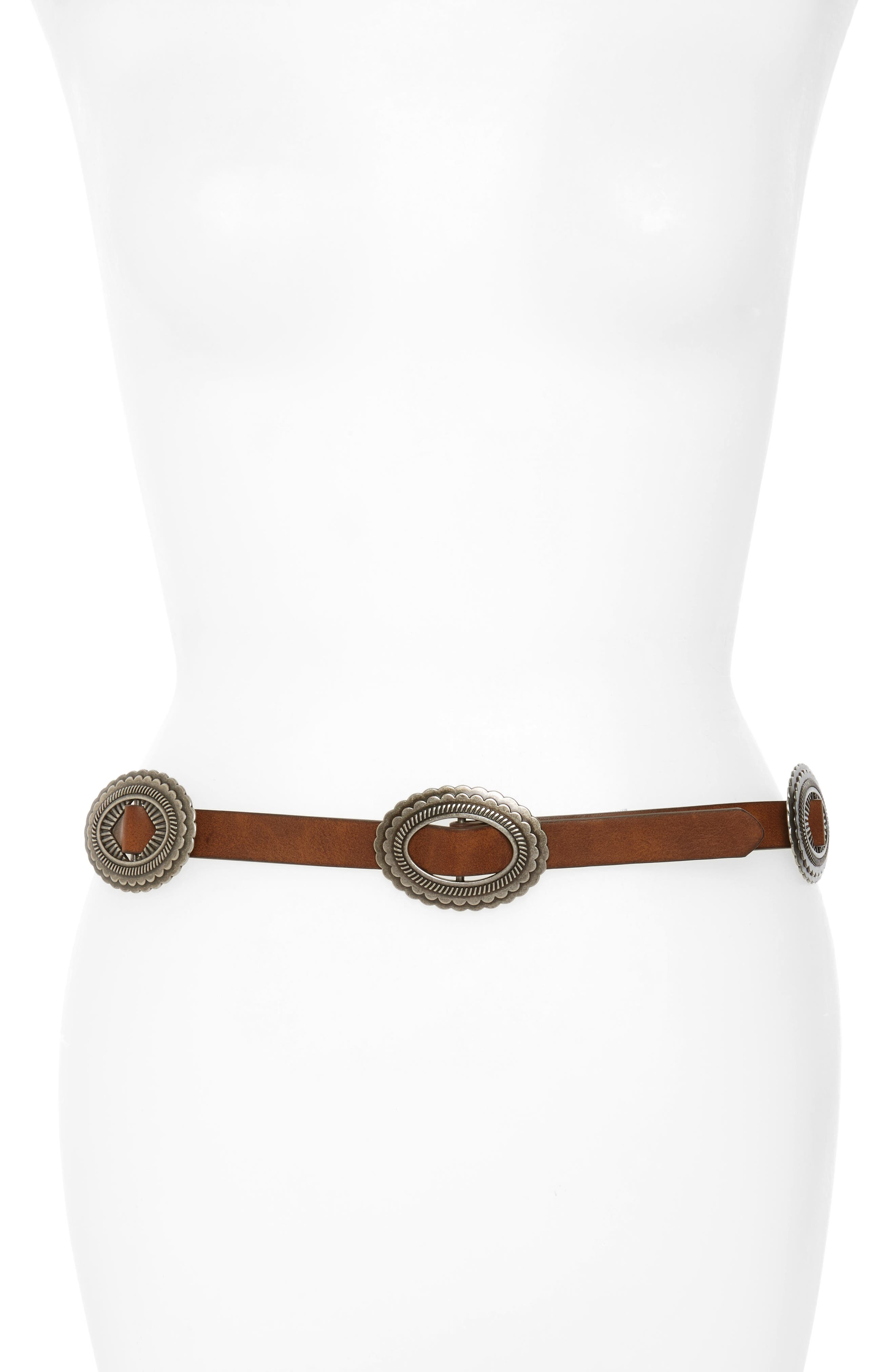 Hinge Concho Faux Leather Belt
