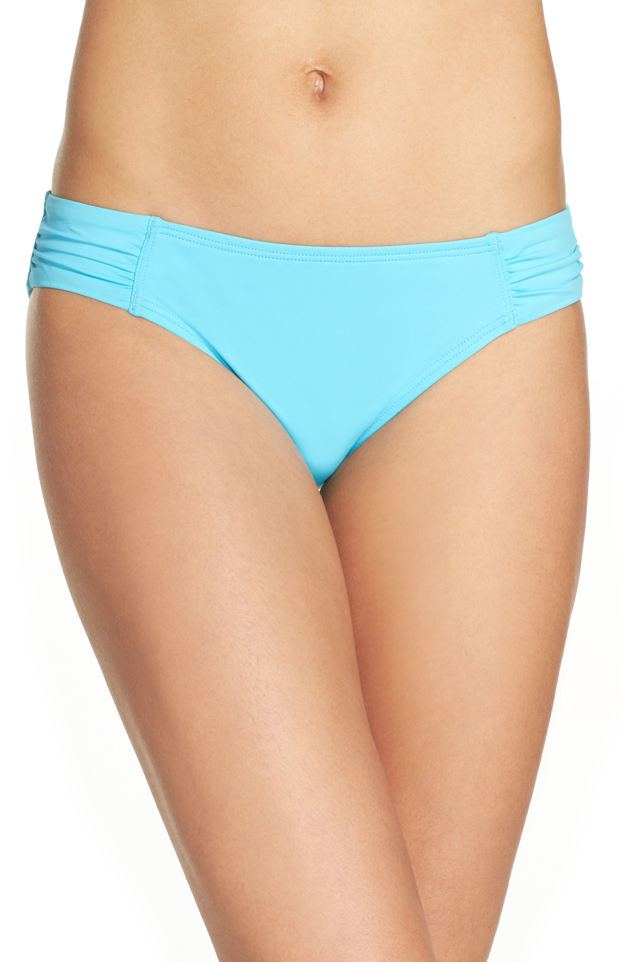 Alternate Image 1 Selected - Tommy Bahama Side Shirred Hipster Bikini Bottoms