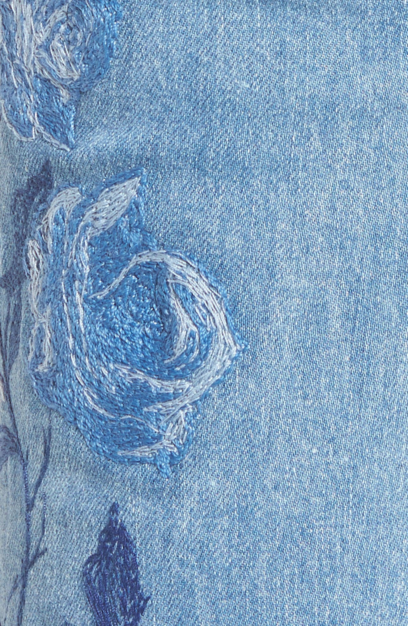 Alternate Image 5  - 7 For All Mankind® Embroidered Ankle Skinny Jeans (Vintage Air Light)