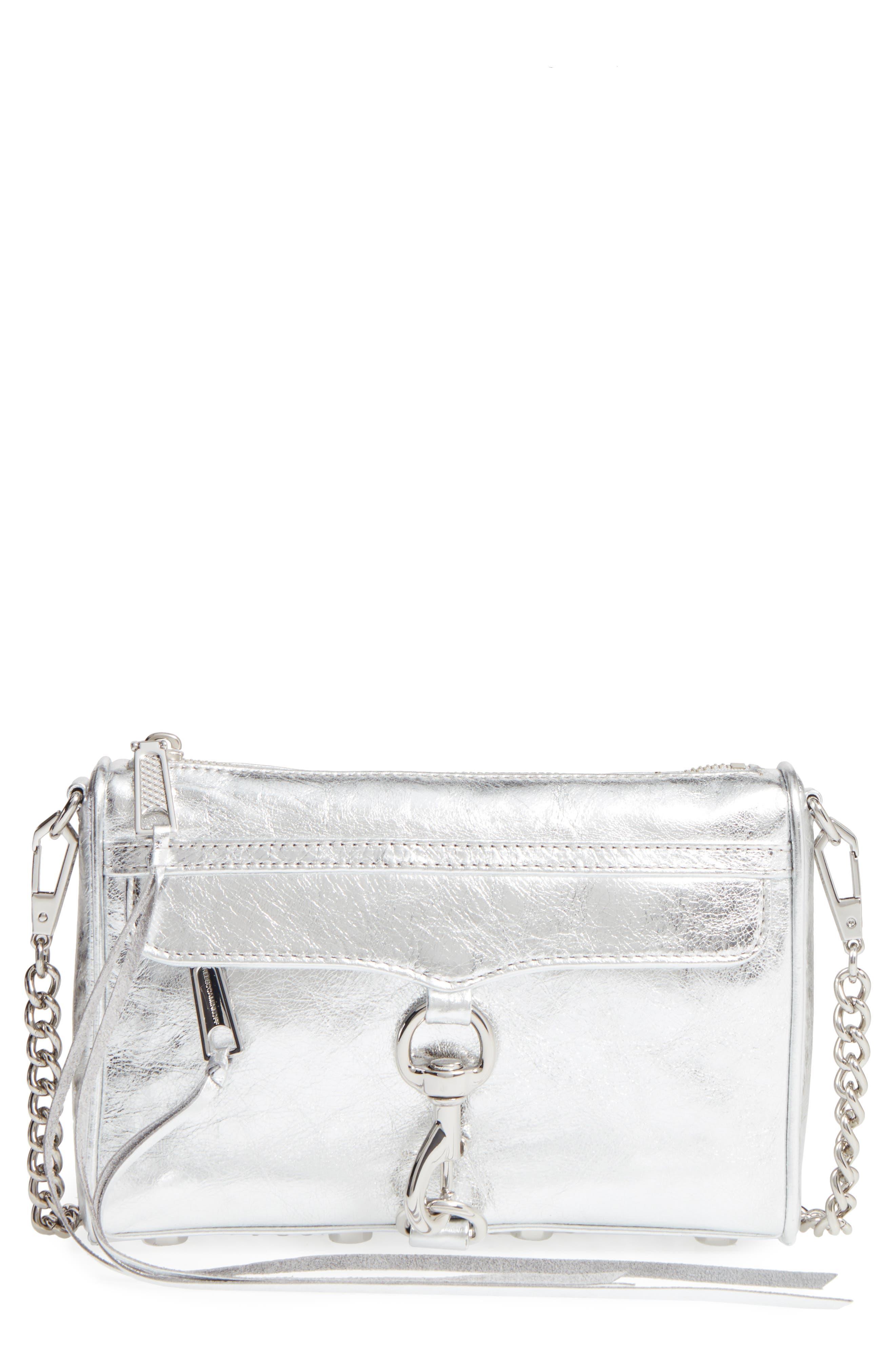 Rebecca Minkoff Mini MAC Metallic Leather Crossbody Bag