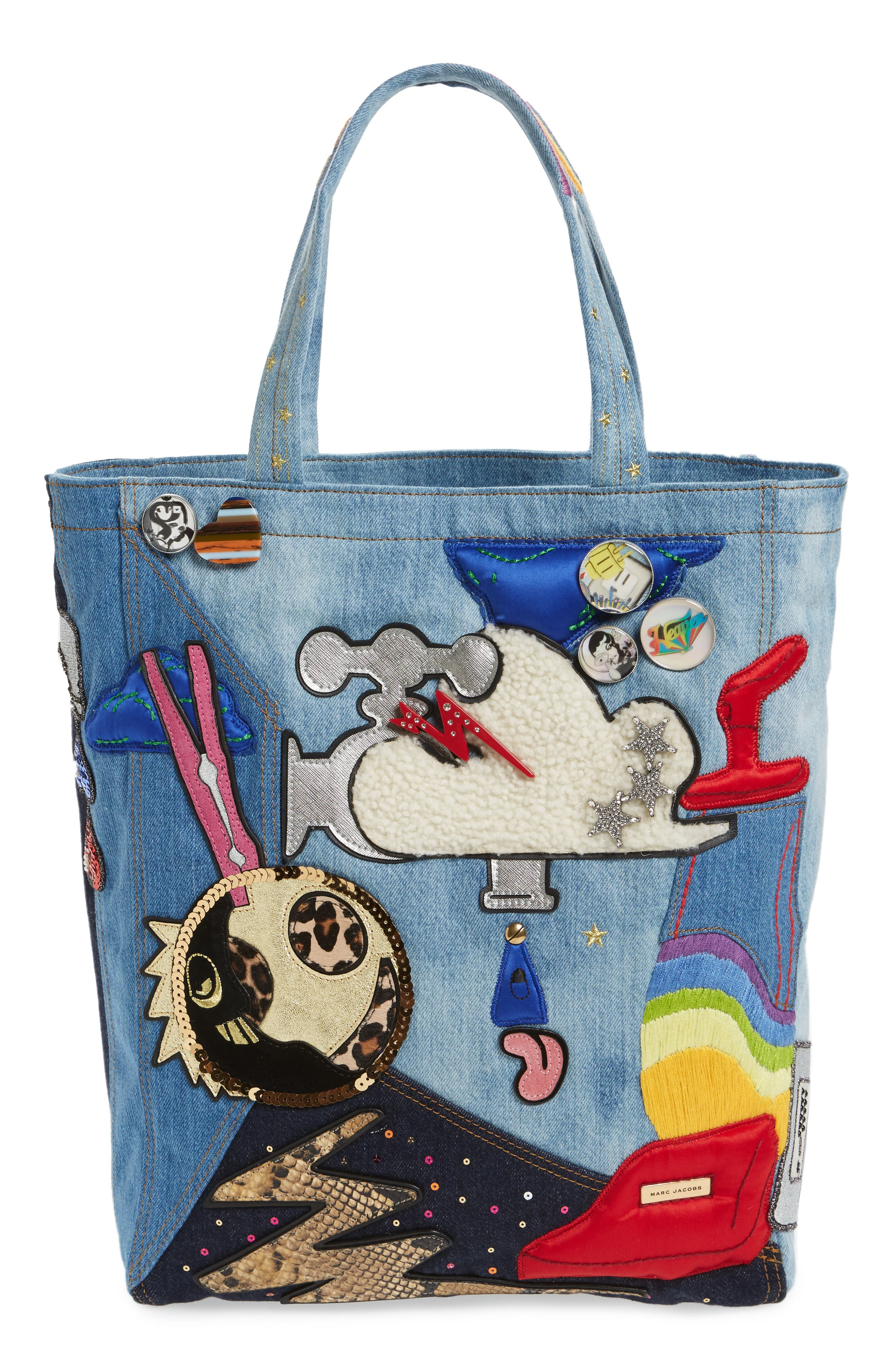 Alternate Image 1 Selected - MARC JACOBS Denim Tote