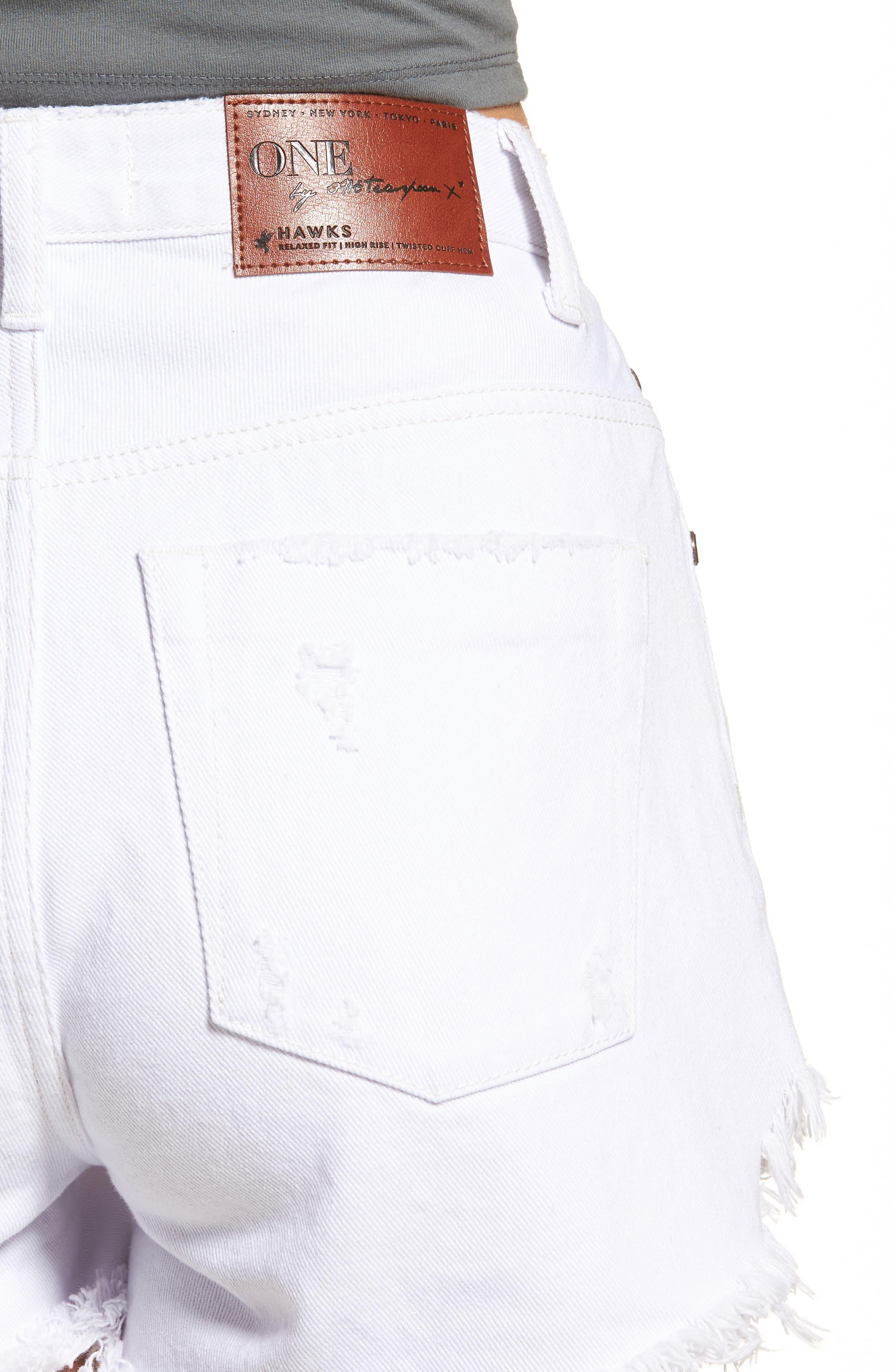 Alternate Image 4  - One Teaspoon Bonita High Waist Denim Shorts