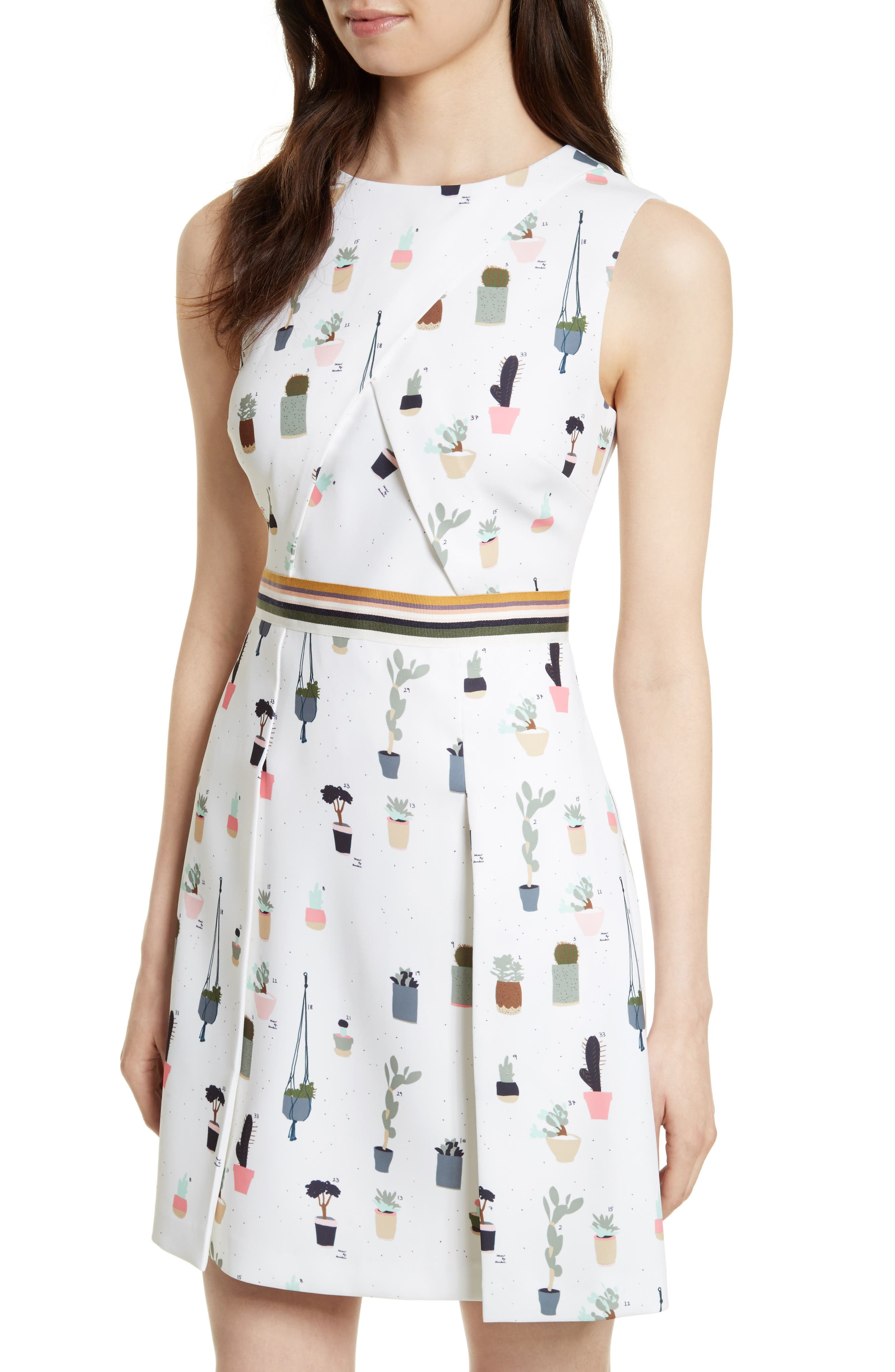 Alternate Image 4  - Ted Baker London Tetro Sleeveless Fit & Flare Dress
