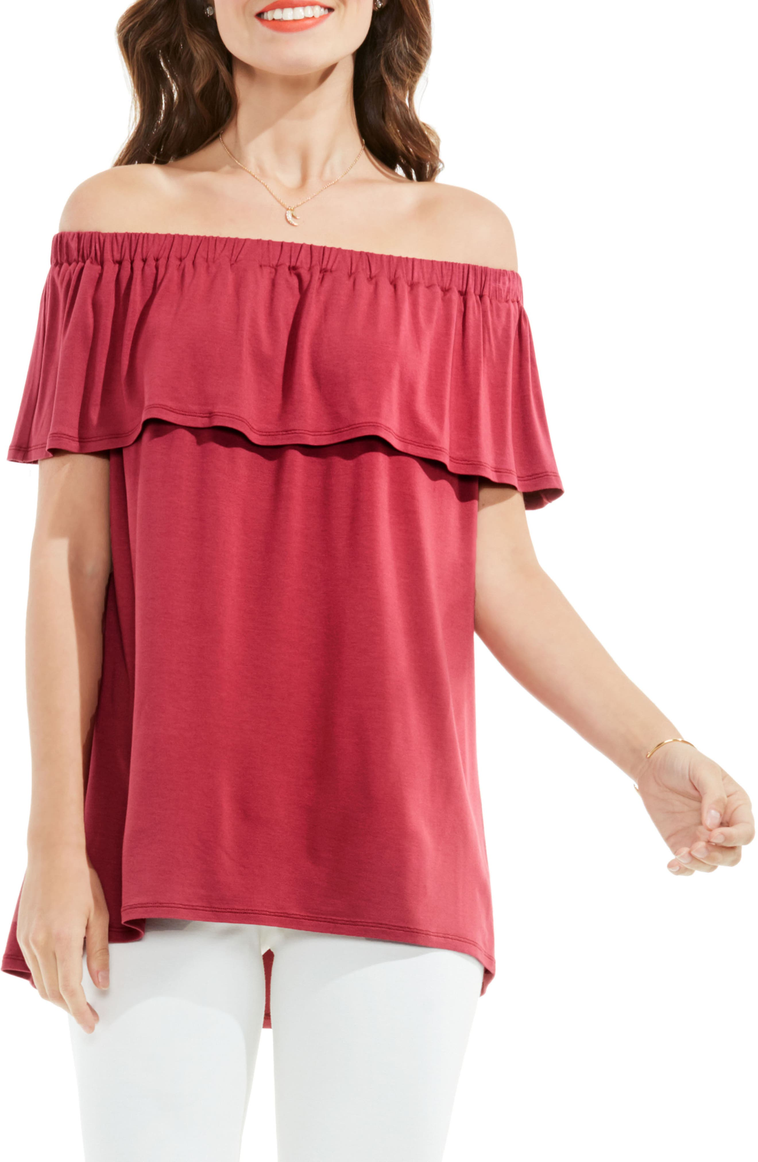 Vince Camuto Ruffle Off the Shoulder Top