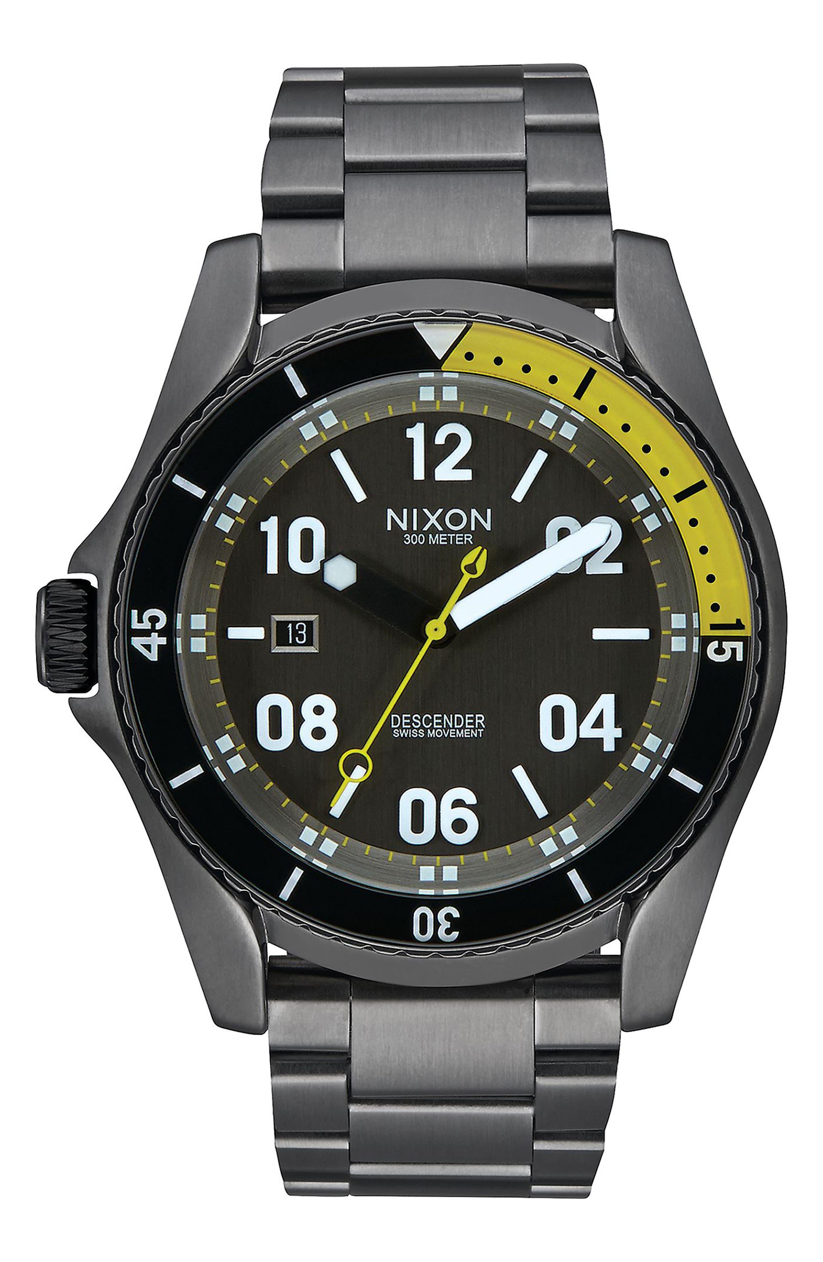 Nixon 'Descender' Bracelet Watch, 45mm