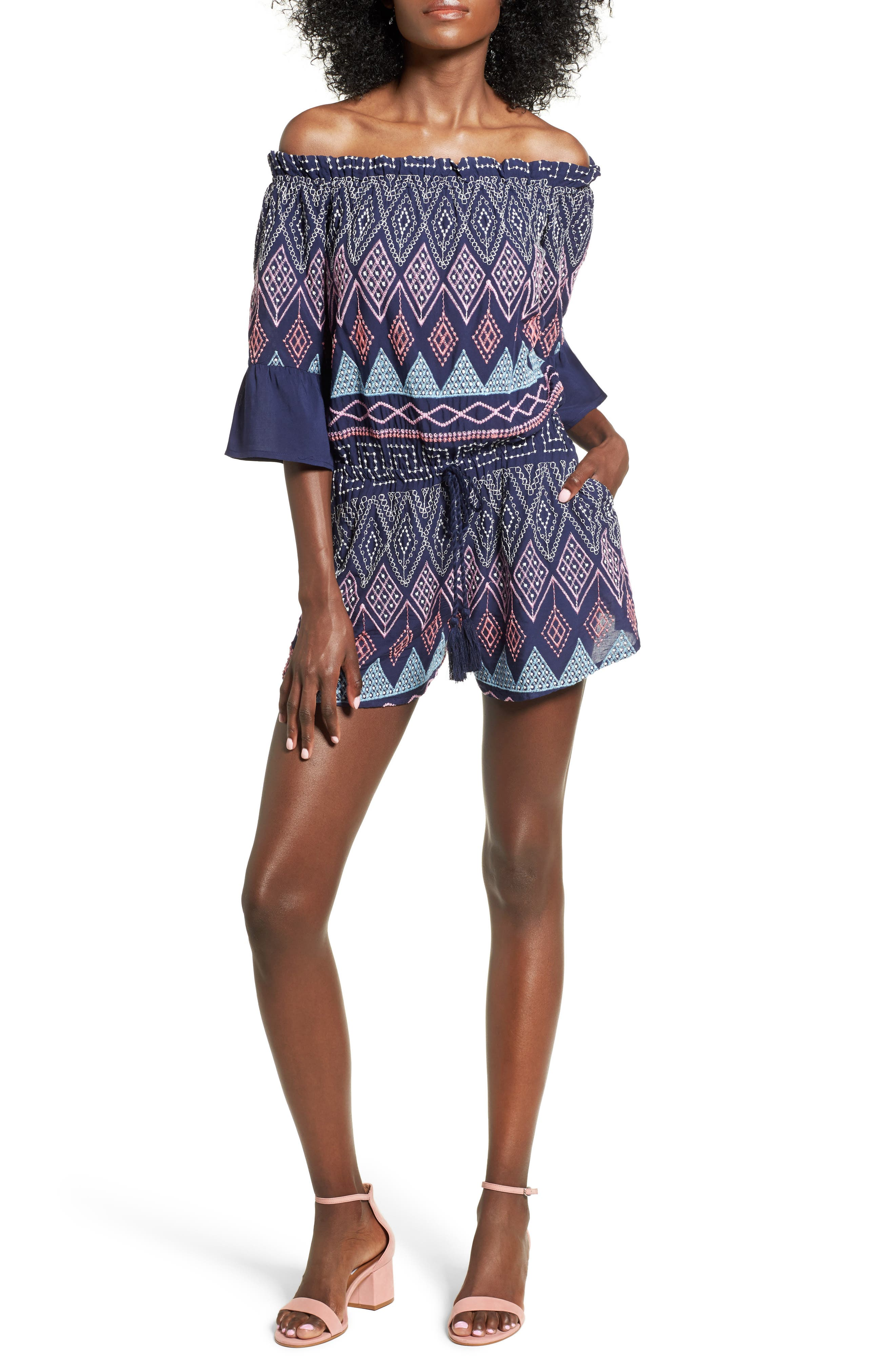delvin Petra Off the Shoulder Romper