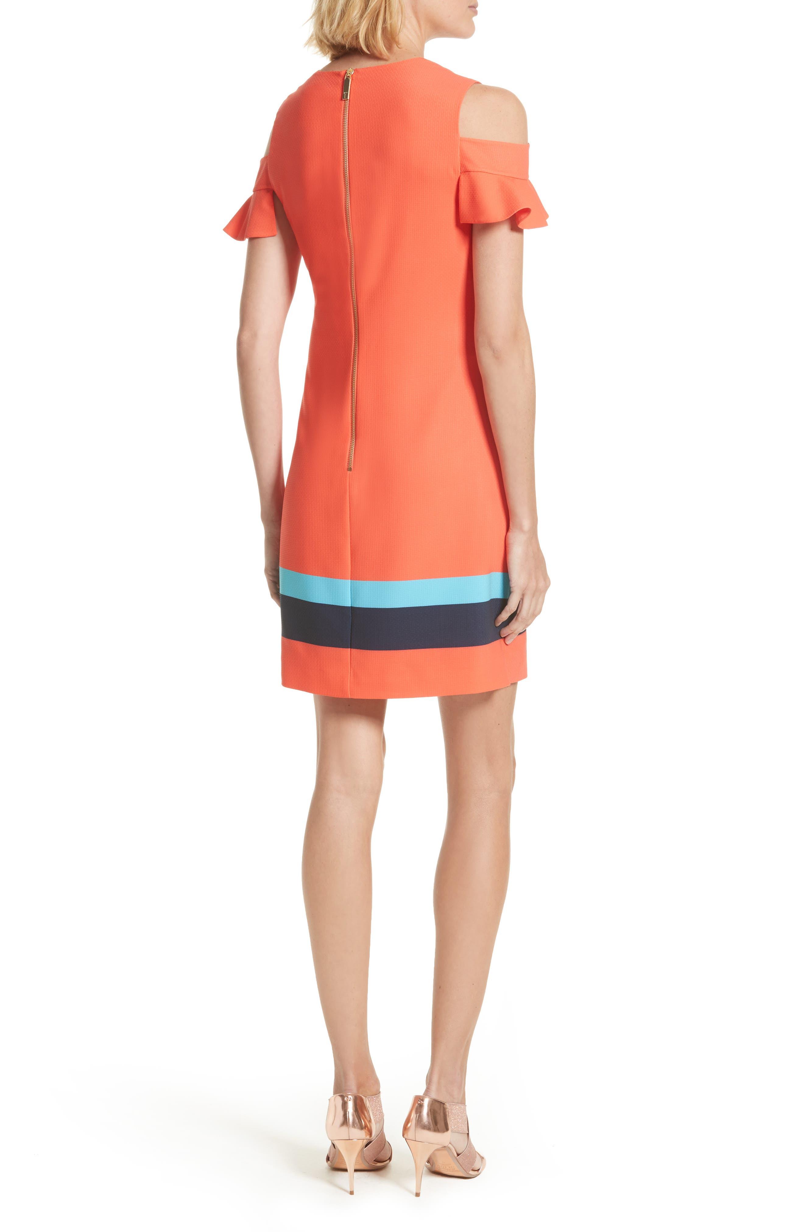 Alternate Image 3  - Ted Baker London Leea Cold Shoulder Shift Dress