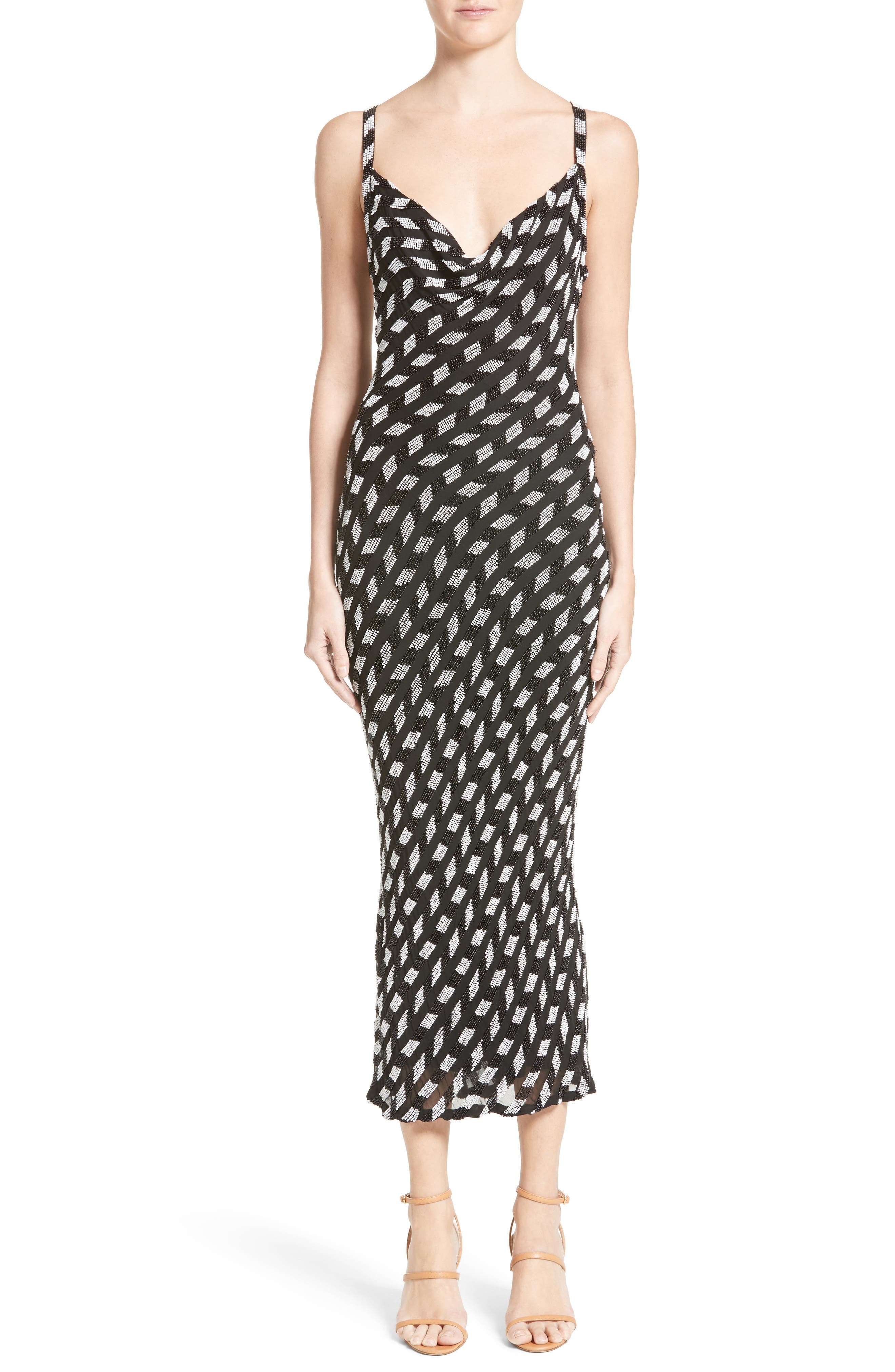 Cushnie et Ochs Penelope Beaded Chiffon Dress