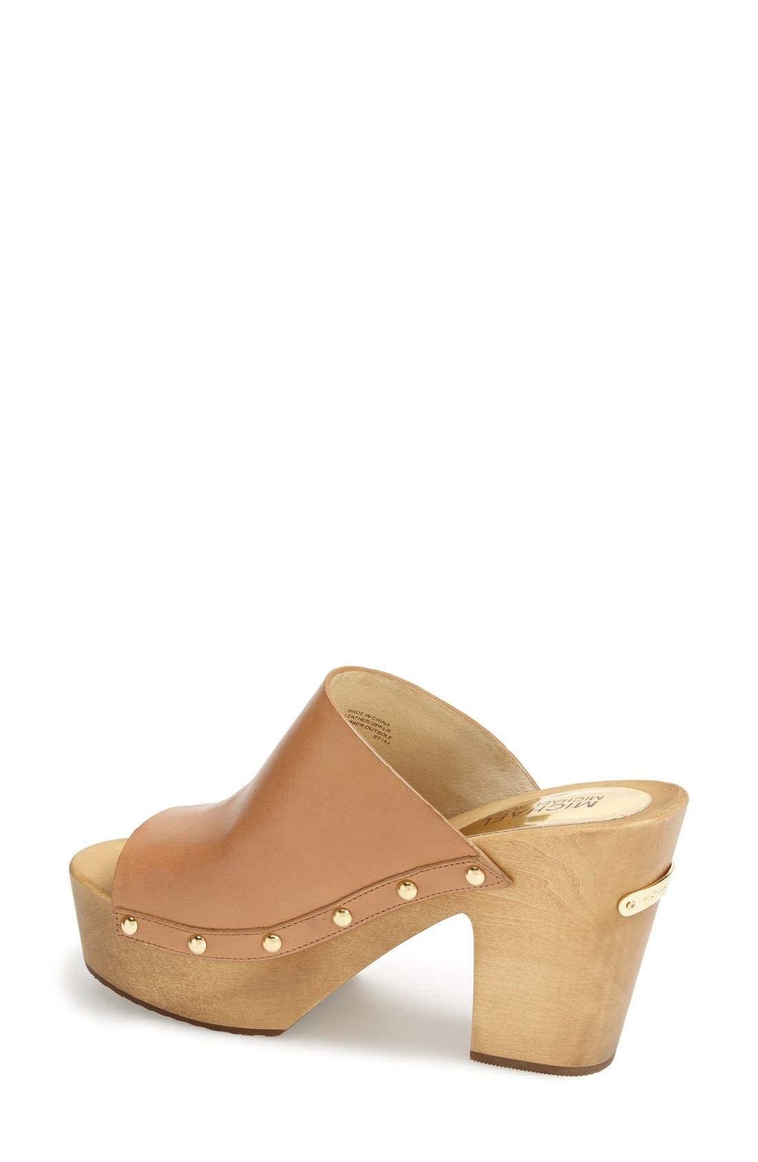 Alternate Image 2  - MICHAEL Michael Kors 'Beatrice' Studded Open Toe Clog (Women)