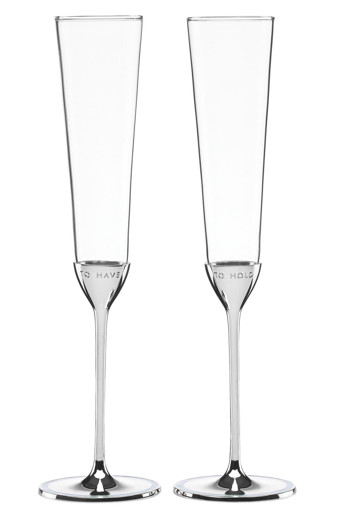 kate spade new york 'take the cake' champagne flutes (Set of 2)