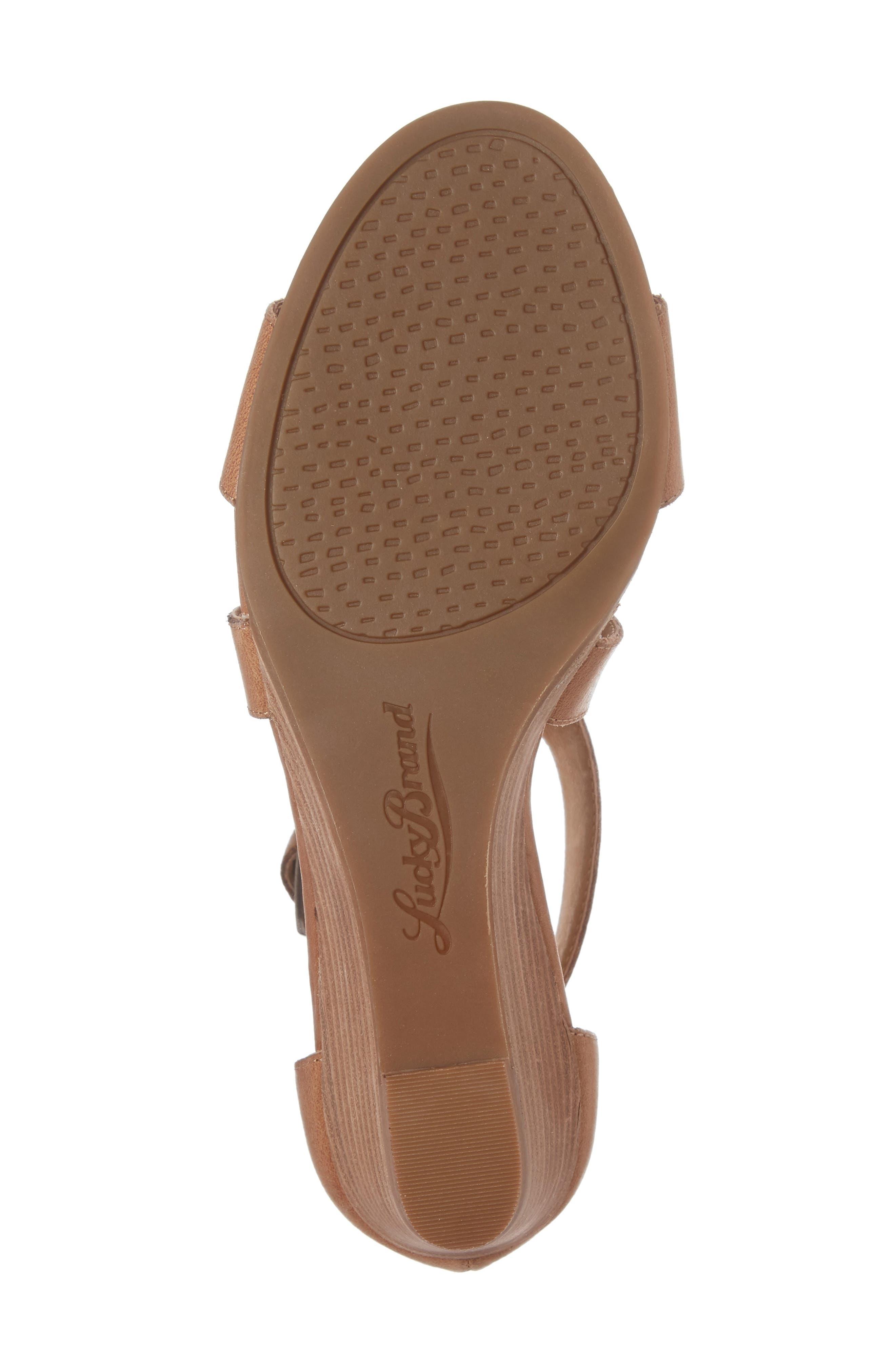 Alternate Image 6  - Lucky Brand Jenley Wedge Sandal (Women)