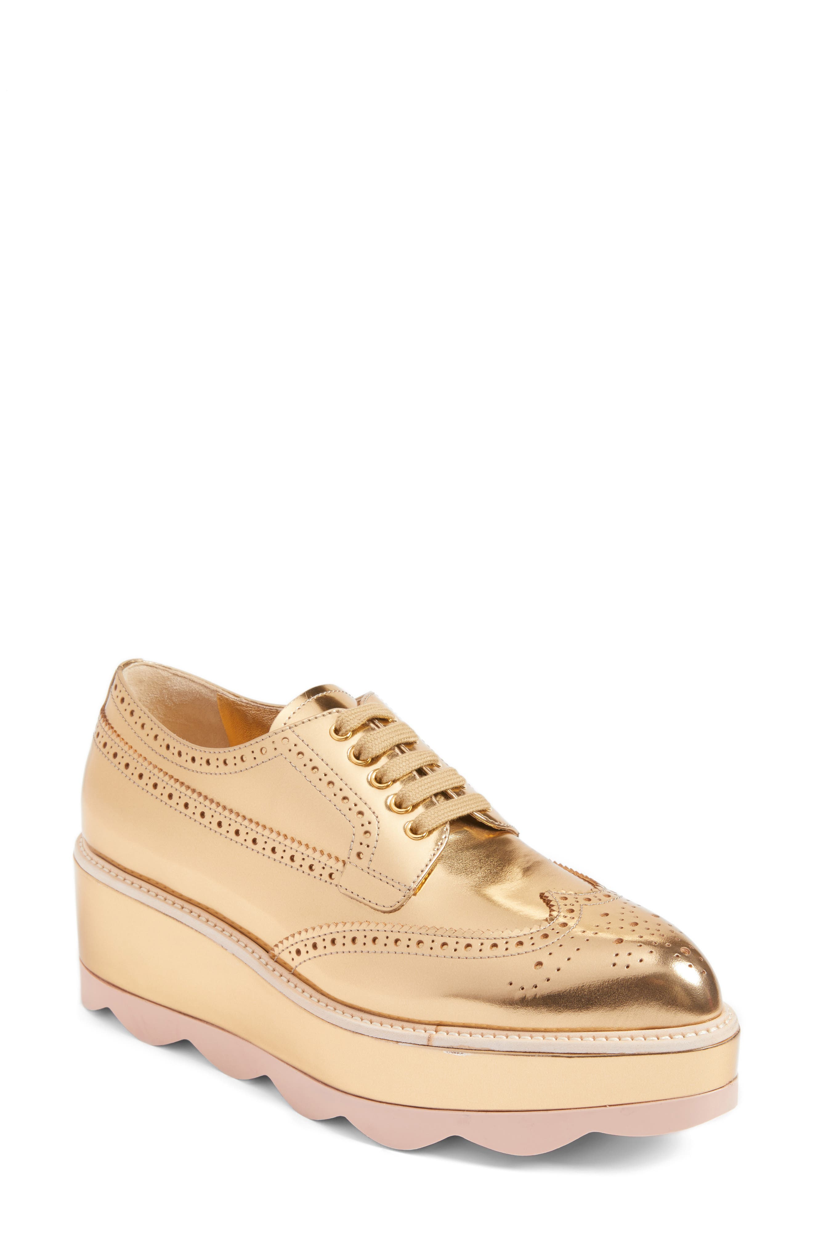 Prada Scalloped Platform Oxford (Women)